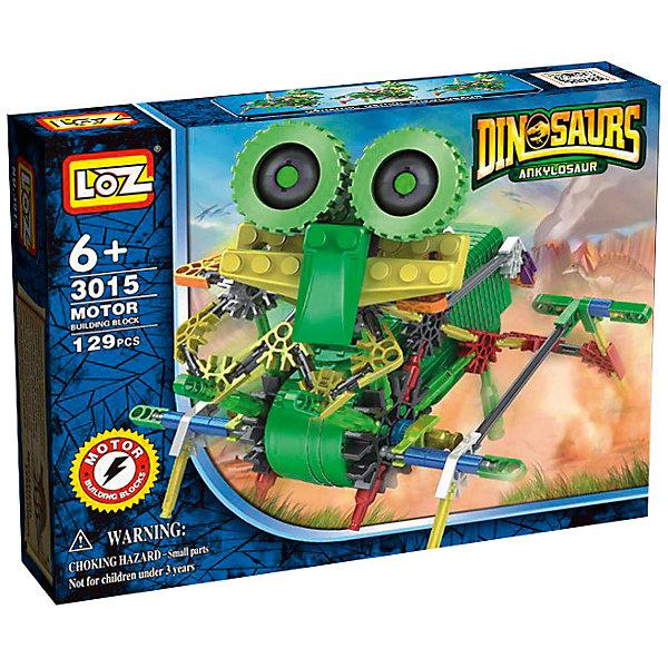 Электромеханический конструктор IROBOT. Динозавры. Велоцараптор, LozПластмассовые конструкторы<br>Электромеханический конструктор IROBOT. Динозавры. Велоцараптор, Loz будет замечательным подарком для Вашего ребенка.<br><br>С помощью моторчика робот уверенно передвигается . Такая игрушка хорошо влияет на развитие у ребенка мелкой моторики, логического мышления, внимательности и усидчивости. Конструкторы данной серии уникальны тем, что малыш может играть получившейся игрушкой. Для работы моторчика нужны две батарейки типа АА (в комплект не входят). <br><br>В набор входит 129 деталей конструктора и подробная инструкция..<br>Ширина мм: 50; Глубина мм: 185; Высота мм: 240; Вес г: 340; Возраст от месяцев: 72; Возраст до месяцев: 180; Пол: Мужской; Возраст: Детский; SKU: 5011476;