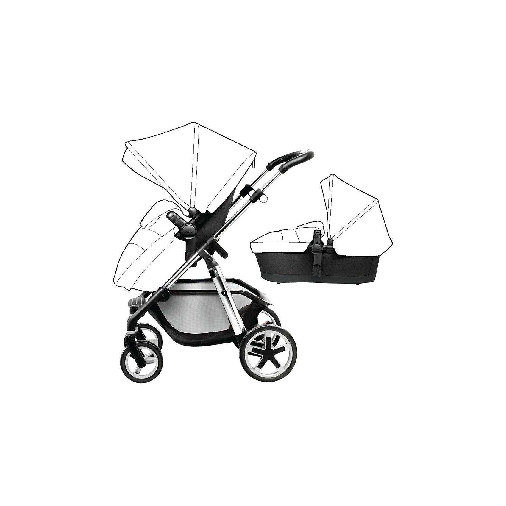 Коляска 2 в 1 Silver Cross , Pioneer, шасси сереброКоляски 2 в 1<br>К выбору коляски важно подходить со всей ответственностью. Данная модель полюбится всем мамам и малышам уже с первой прогулки. Максимальная нагрузка составляет 25 кг, что позволяет возить малышей до трех лет. Коляска сборная, поэтому будет удобна для хранения в любой квартире. Качество колес и шин позволяет ездить по всем поверхностям с комфортом для малыша. <br><br>Дополнительные характеристики:<br><br>возраст: 0-3 года;<br>регулируемая спинка;<br>цвет шасси: серебро;<br>фильтр от ультрафиолета UPF 50+;<br>блокировка тормозов;<br>габариты: 92 х 60 х 117 см;<br>масса люльки: 3,5 кг;<br>наличие матраса на искусственном меху;<br>комплектация: сумка и корзина для мамы, матрас для люльки, люлька и блок для прогулок, рама, защита от дождя, подстаканник.<br><br>ВНИМАНИЕ! Капор и накидка на ножки продаются отдельно.  <br><br>Коляску 2 в 1, Pioneer от компании Silver Cross можно приобрести в нашем магазине.<br><br>Ширина мм: 300<br>Глубина мм: 300<br>Высота мм: 110<br>Вес г: 12900<br>Возраст от месяцев: 0<br>Возраст до месяцев: 36<br>Пол: Унисекс<br>Возраст: Детский<br>SKU: 5011547