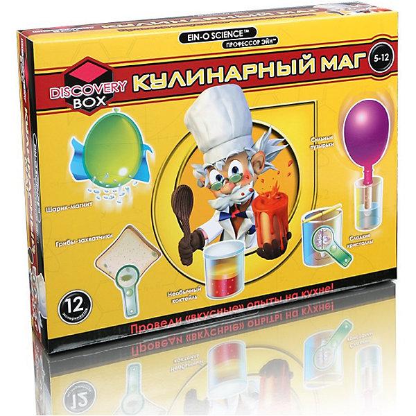 Профессор Эйн: Кулинарный магХимия и физика<br>Кухня – отличное место для проведения экспериментов! Опыты этого набора раскроют тайны простых, но в то же время увлекательных явлений и процессов! Дети создадут жидкость, которая может быть твёрдой, заставят муку прилипнуть к воздушному шарику, вырасят сахарные кристаллы и проведут другие увлекательные опыты!<br>Ширина мм: 67; Глубина мм: 317; Высота мм: 241; Вес г: 584; Возраст от месяцев: 72; Возраст до месяцев: 420; Пол: Унисекс; Возраст: Детский; SKU: 5012240;