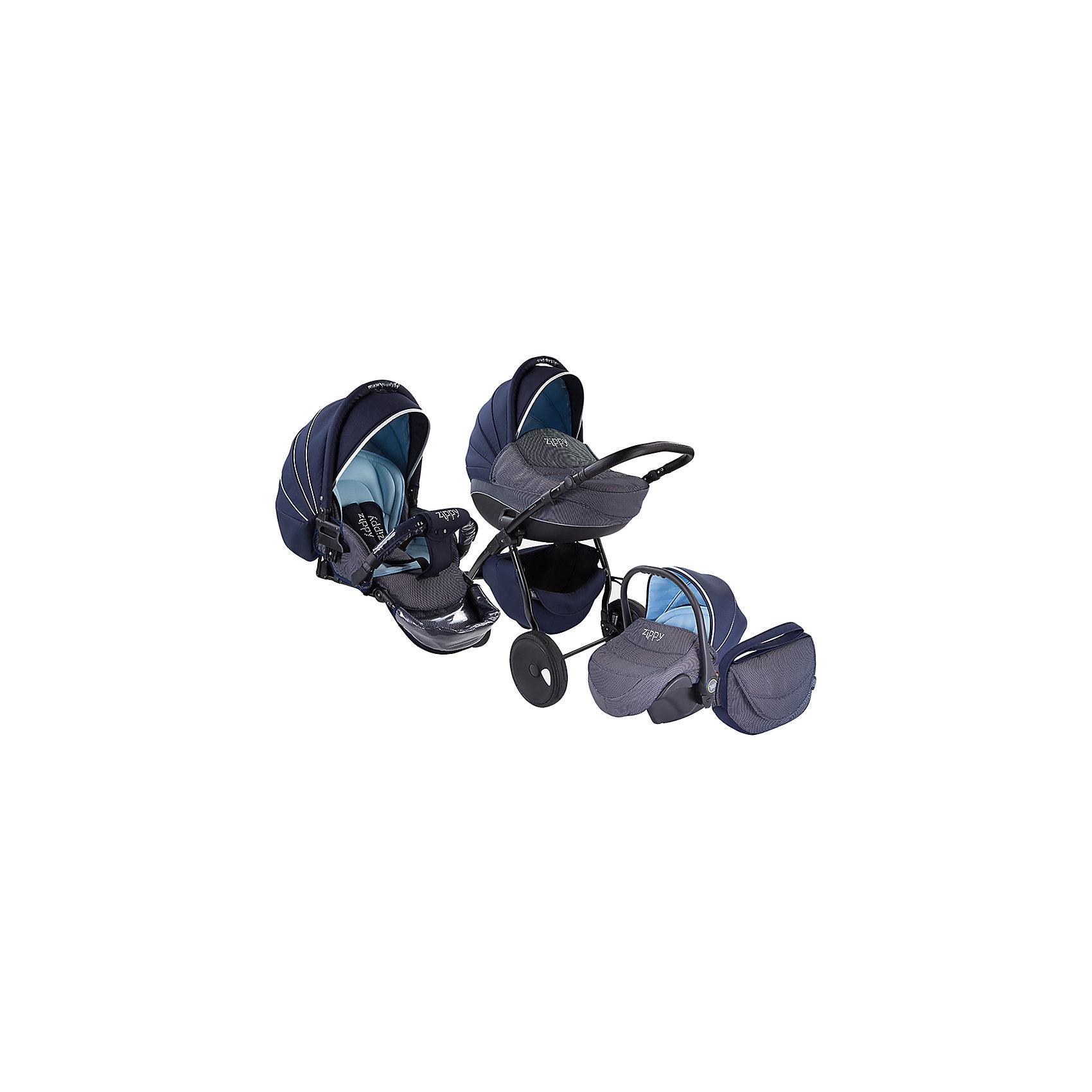 TUTIS Коляска 3 в 1 Zippy Silver New, Tutis, темн. синий