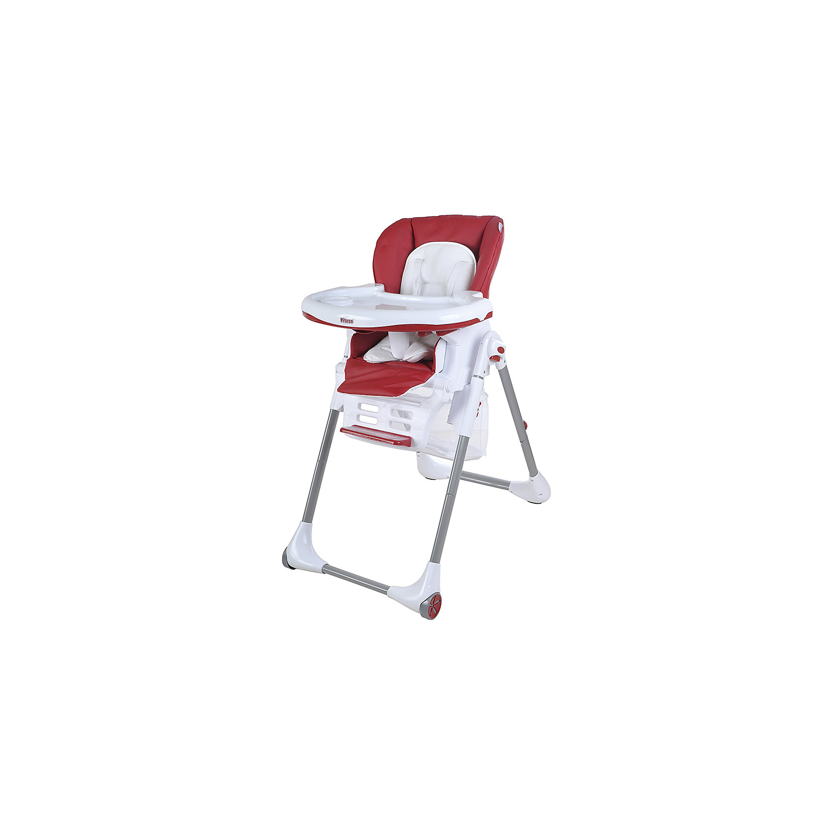Pituso Стульчик для кормления ELCANTO, Pituso, ECO кожа, бордовый pituso стульчик для кормления bonito дружок попугай pituso белый