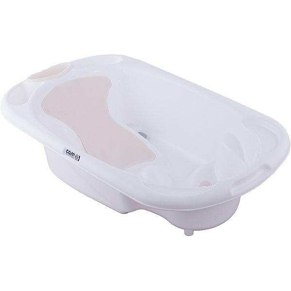 Ванночка Baby Bagno, CAM, белыйДетские ванночки<br>Ванночка Baby Bagno, CAM, белый обеспечивает безопасность и сохраняет правильную осанку малыша.<br>Анатомическая ванночка, сделанная из качественных и безвредных материалов, помогает малышу купаться без страха. Внутри ванночки есть сиденье и небольшие подлокотники. Кроме того, есть полочка для шампуня и мыла, а также отверстие для слива. После купания ванночку можно повесить на стену.<br><br>Дополнительная информация:<br><br>- возраст: от 0 до 12 месяцев<br>- размер: 53 x 96 x 24 см<br>- вес: 2,3 кг<br>- цвет: белая<br><br>Ванночка Baby Bagno, CAM, белый можно купить в нашем интернет магазине.<br>Ширина мм: 557; Глубина мм: 330; Высота мм: 975; Вес г: 2250; Возраст от месяцев: 0; Возраст до месяцев: 6; Пол: Унисекс; Возраст: Детский; SKU: 5013495;