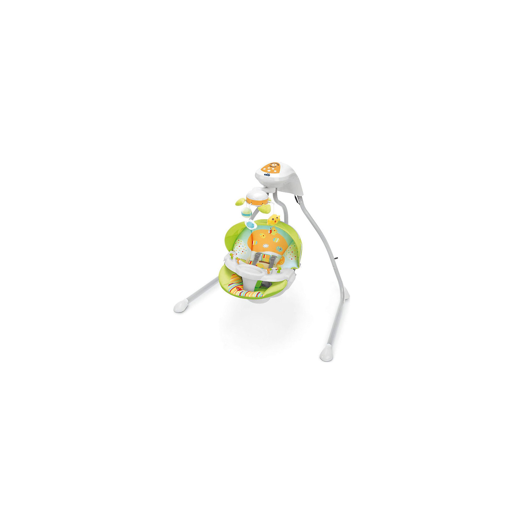 Качели Gironanna, CAM, оранжевый грибКачели электронные<br>Качели Gironanna, CAM, оранжевый гриб обеспечат крепкий сон для вашего малыша. <br>Изготовлены качели из прочного и качественного материала. Для безопасности ребенка предусмотрены пятиточечные ремни безопасности. Ножки оснащены насадками против скольжения. Качели имеют 3 скорости укачивания, с автоматическим выключением через 8-15-30 минут, подвесные игрушки и мелодии для сна (3 колыбельные и 3 мелодии со звуками природы), которые можно регулировать. Спинка сиденья регулируется в 2 положениях. Есть съемный козырек и столик.<br><br>Дополнительная информация:<br><br>- возраст: от 0 <br>- вес ребенка: до 9 кг<br>- размер: 114х78х104 см<br>- вес: 9,1 кг<br>- цвет: оранжевый<br>- материал: пластмасса, металл, текстиль<br><br>Качели Gironanna, CAM, оранжевый гриб можно купить в нашем интернет магазине.<br><br>Ширина мм: 470<br>Глубина мм: 320<br>Высота мм: 605<br>Вес г: 10800<br>Возраст от месяцев: 0<br>Возраст до месяцев: 8<br>Пол: Унисекс<br>Возраст: Детский<br>SKU: 5013498