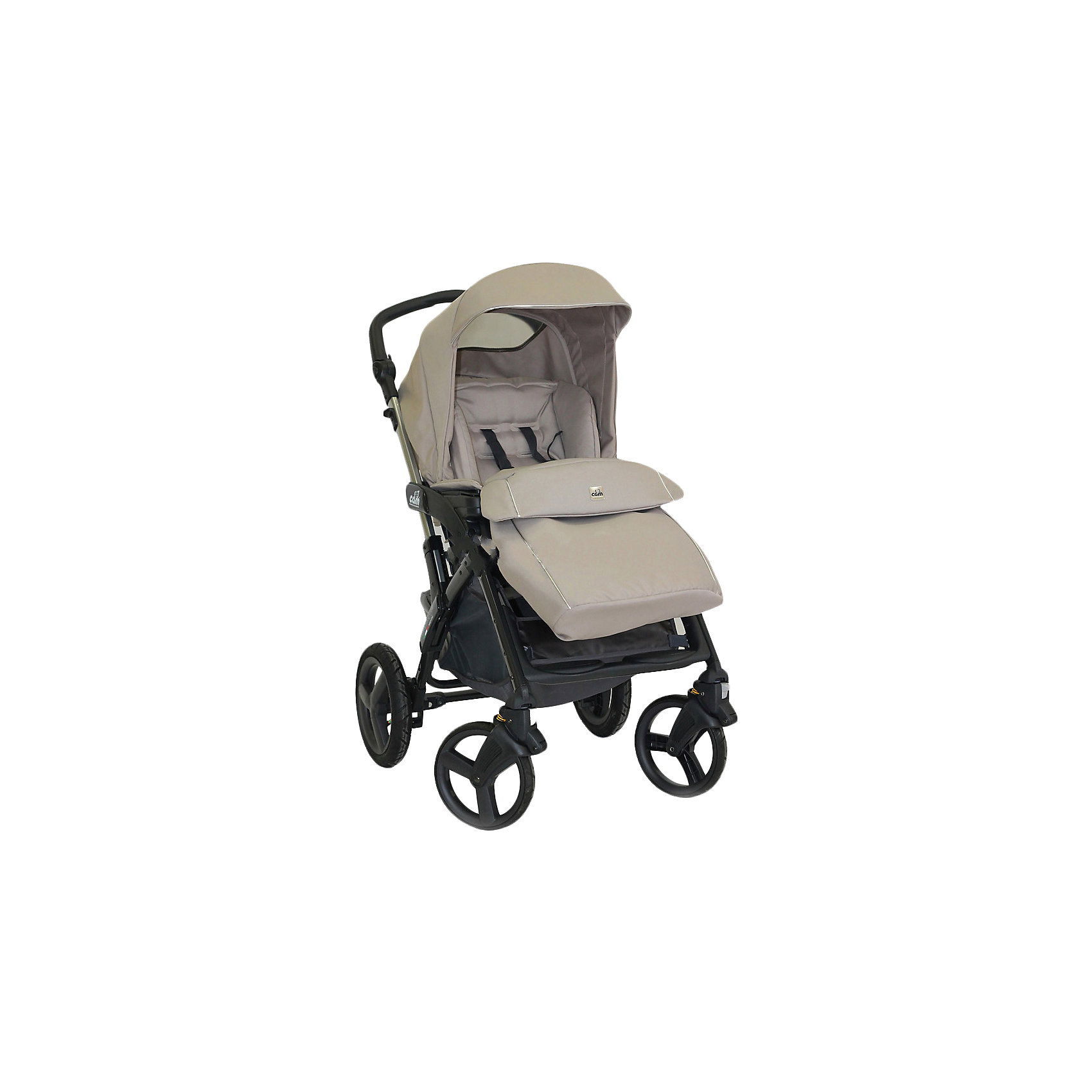 CAM Прогулочная коляска Dinamico 4S, CAM, темный крем с серебристой окантовкой