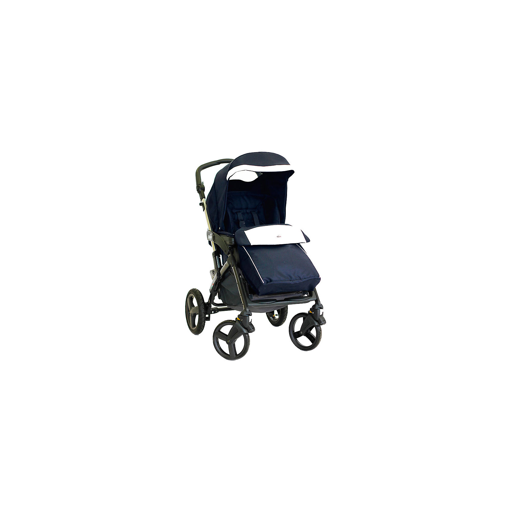 CAM Прогулочная коляска Dinamico 4S, CAM, синий с белой эко-кожей