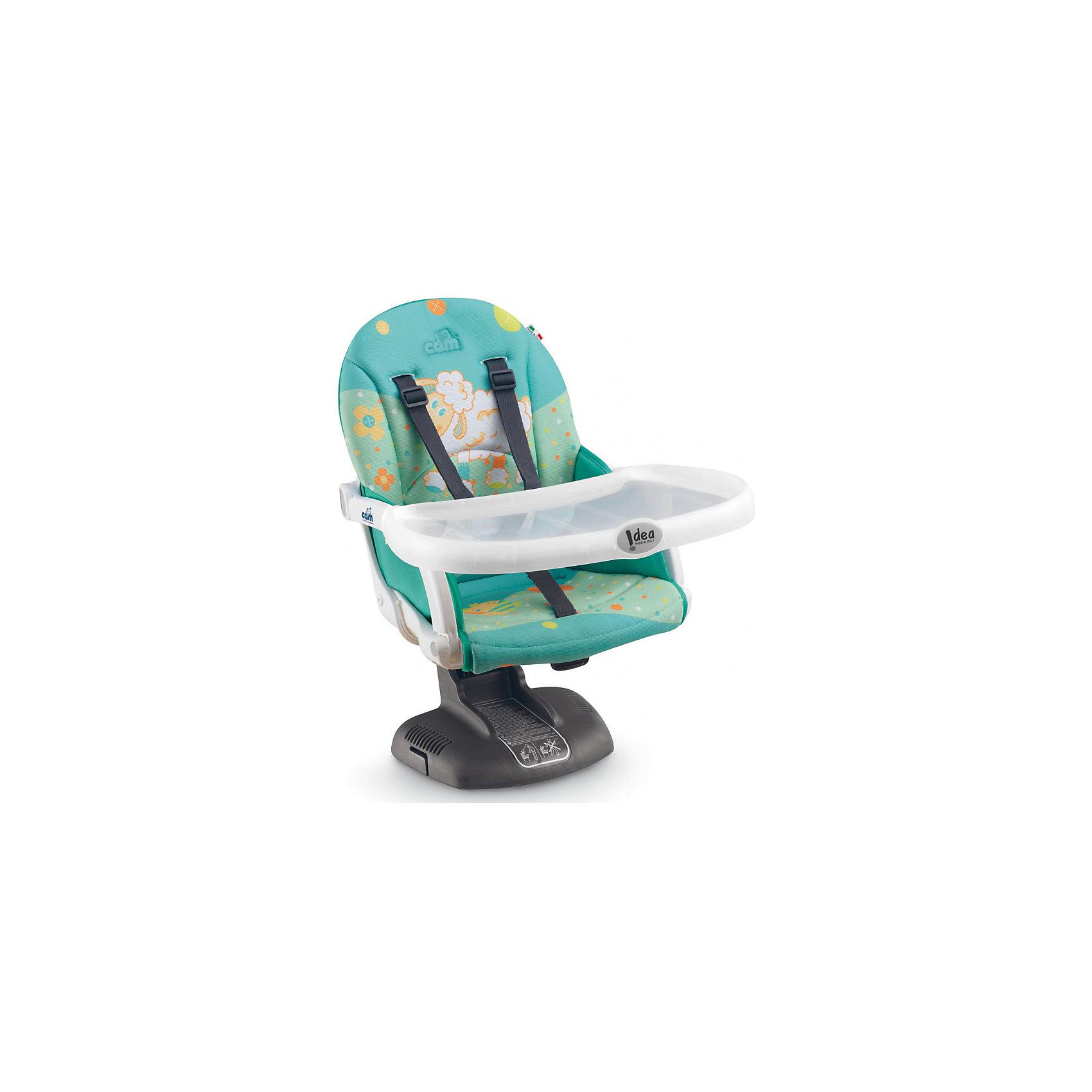 Стульчик для кормления Idea, CAM, овечка на голубомот +6 месяцев<br>Стульчик для кормления Idea, CAM, овечка на голубом – компактная модель для дома и дачи.<br>Тип стульчика – бустер. Он крепится к обычной мебели и может быть отрегулирован с помощью 7 уровней высоты сидения. Мягкое сидение и подлокотники делают сиденье комфортным для ребенка, а ремни безопасности защищают малыша от падения и не дают ему выбраться самостоятельно. <br><br> Дополнительная информация:<br><br>- цвет: голубой<br>- размер: 52х36х40 см<br>- вес: 2,8<br><br><br>Стульчик для кормления Idea, CAM, овечка на голубом можно купить в нашем интернет магазине.<br><br>Ширина мм: 995<br>Глубина мм: 369<br>Высота мм: 499<br>Вес г: 3750<br>Возраст от месяцев: 6<br>Возраст до месяцев: 36<br>Пол: Унисекс<br>Возраст: Детский<br>SKU: 5013513