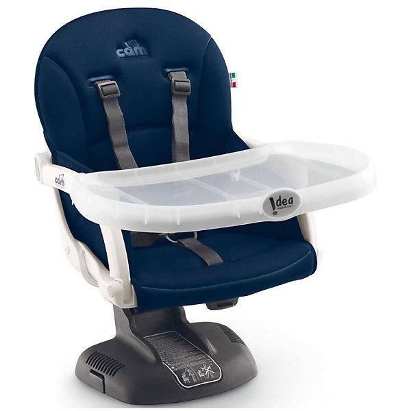 Стульчик для кормления Idea, CAM, синийСтульчики для кормления<br>Стульчик для кормления Idea, CAM, синий – компактная модель для дома и дачи.<br>Тип стульчика – бустер. Он крепится к обычной мебели и может быть отрегулирован с помощью 7 уровней высоты сидения. Мягкое сидение и подлокотники делают сиденье комфортным для ребенка, а ремни безопасности защищают малыша от падения и не дают ему выбраться самостоятельно. <br><br> Дополнительная информация:<br><br>- цвет: синий<br>- размер: 52х36х40 см<br>- вес: 2,8<br><br><br>Стульчик для кормления Idea, CAM, синий можно купить в нашем интернет магазине.<br>Ширина мм: 995; Глубина мм: 369; Высота мм: 499; Вес г: 3750; Возраст от месяцев: 6; Возраст до месяцев: 36; Пол: Унисекс; Возраст: Детский; SKU: 5013514;