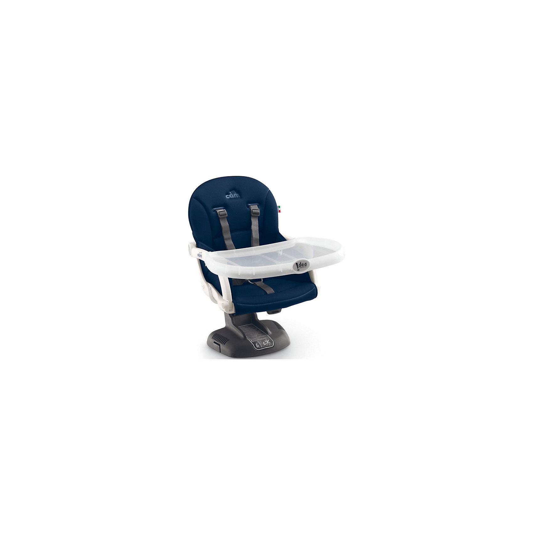 Стульчик для кормления Idea, CAM, синийот +6 месяцев<br>Стульчик для кормления Idea, CAM, синий – компактная модель для дома и дачи.<br>Тип стульчика – бустер. Он крепится к обычной мебели и может быть отрегулирован с помощью 7 уровней высоты сидения. Мягкое сидение и подлокотники делают сиденье комфортным для ребенка, а ремни безопасности защищают малыша от падения и не дают ему выбраться самостоятельно. <br><br> Дополнительная информация:<br><br>- цвет: синий<br>- размер: 52х36х40 см<br>- вес: 2,8<br><br><br>Стульчик для кормления Idea, CAM, синий можно купить в нашем интернет магазине.<br><br>Ширина мм: 995<br>Глубина мм: 369<br>Высота мм: 499<br>Вес г: 3750<br>Возраст от месяцев: 6<br>Возраст до месяцев: 36<br>Пол: Унисекс<br>Возраст: Детский<br>SKU: 5013514