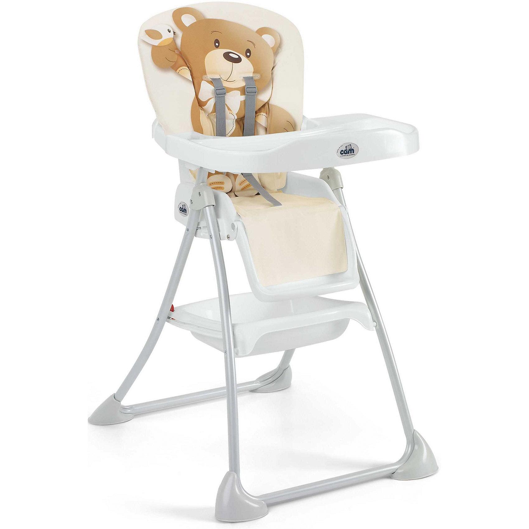 Стульчик для кормления Mini Plus, CAM, бежевый с медвежонкомот +6 месяцев<br>Стульчик для кормления Mini Plus, CAM, бежевый с медвежонком обеспечивает удобство при кормлении.<br>Очень компактный и легкий стул создает максимальный комфорт для ребенка. Он регулируется: наклон спинки и высота сиденья, положение и высота опоры для ног в трех режимах. Поднос можно снять. Кроме того, у стульчика чехол из эко-кожи, который можно снять и легко помыть. Ножки с защитными насадками против скольжения. Для безопасности ребенка 5-точечный ремень безопасности. Есть отделение, в котором можно хранить продукты.<br><br>Дополнительная информация:<br><br>- размер в открытом виде: 62х83х111 см<br>- размер в сложенном виде: 62х23х109 см<br>- возрастная группа: от 6 месяцев<br>- цвет: бежевый<br><br>Стульчик для кормления Mini Plus, CAM, бежевый с медвежонком бежевый можно купить в нашем интернет магазине.<br><br>Ширина мм: 550<br>Глубина мм: 220<br>Высота мм: 995<br>Вес г: 8300<br>Возраст от месяцев: 6<br>Возраст до месяцев: 36<br>Пол: Унисекс<br>Возраст: Детский<br>SKU: 5013517