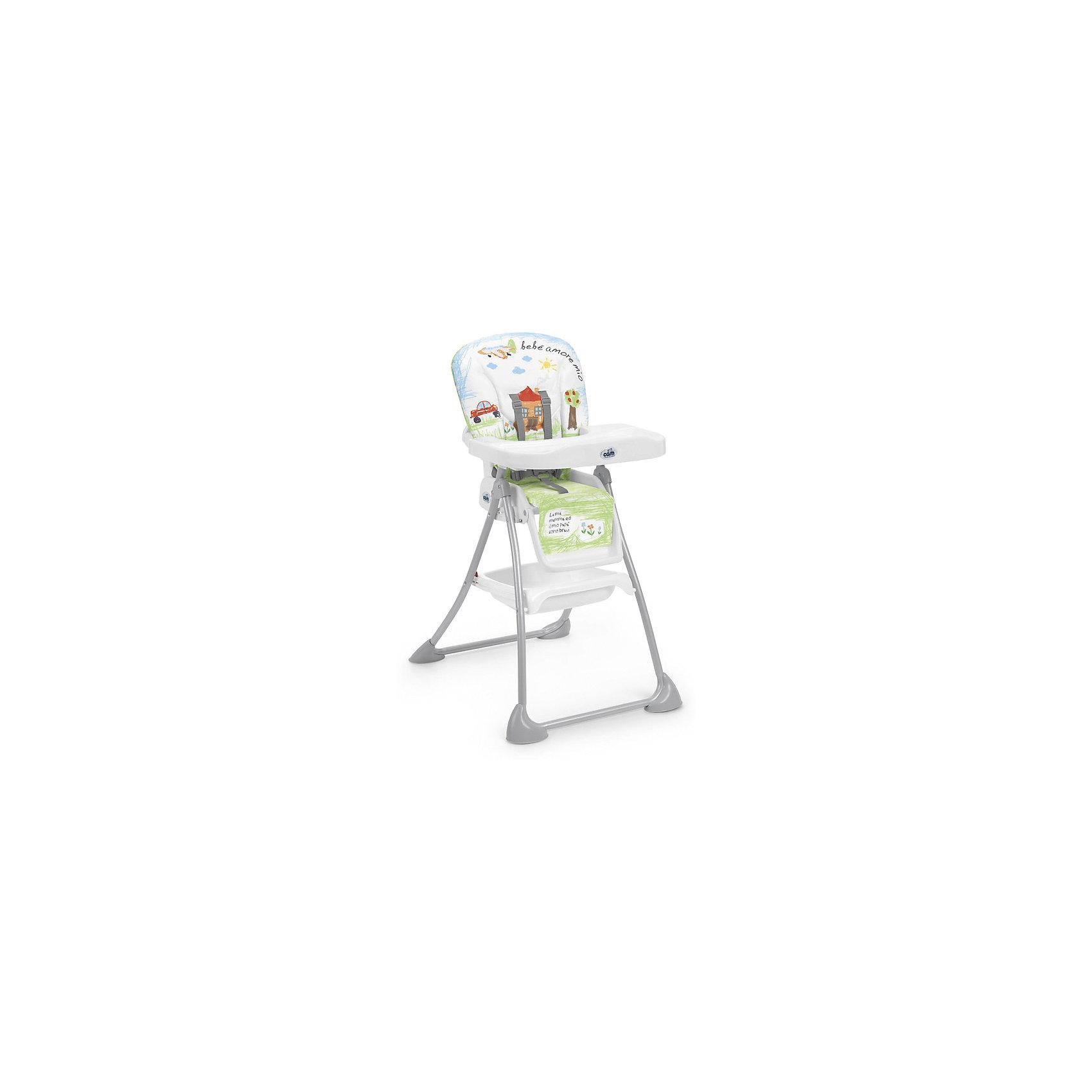 Стульчик для кормления Mini Plus, CAM, Bebe amore mioот +6 месяцев<br>Стульчик для кормления Mini Plus, CAM, Bebe amore mio обеспечивает удобство при кормлении.<br>Очень компактный и легкий стул создает максимальный комфорт для ребенка. Он регулируется: наклон спинки и высота сиденья, положение и высота опоры для ног в трех режимах. Поднос можно снять. Кроме того, у стульчика чехол из эко-кожи, который можно снять и легко помыть. Ножки с защитными насадками против скольжения. Для безопасности ребенка 5-точечный ремень безопасности. Есть отделение, в котором можно хранить продукты.<br><br>Дополнительная информация:<br><br>- размер в открытом виде: 62х83х111 см<br>- размер в сложенном виде: 62х23х109 см<br>- возрастная группа: от 6 месяцев<br>- цвет: белый<br><br>Стульчик для кормления Mini Plus, CAM, Bebe amore mio бежевый можно купить в нашем интернет магазине.<br><br>Ширина мм: 550<br>Глубина мм: 220<br>Высота мм: 995<br>Вес г: 8300<br>Возраст от месяцев: 6<br>Возраст до месяцев: 36<br>Пол: Унисекс<br>Возраст: Детский<br>SKU: 5013518