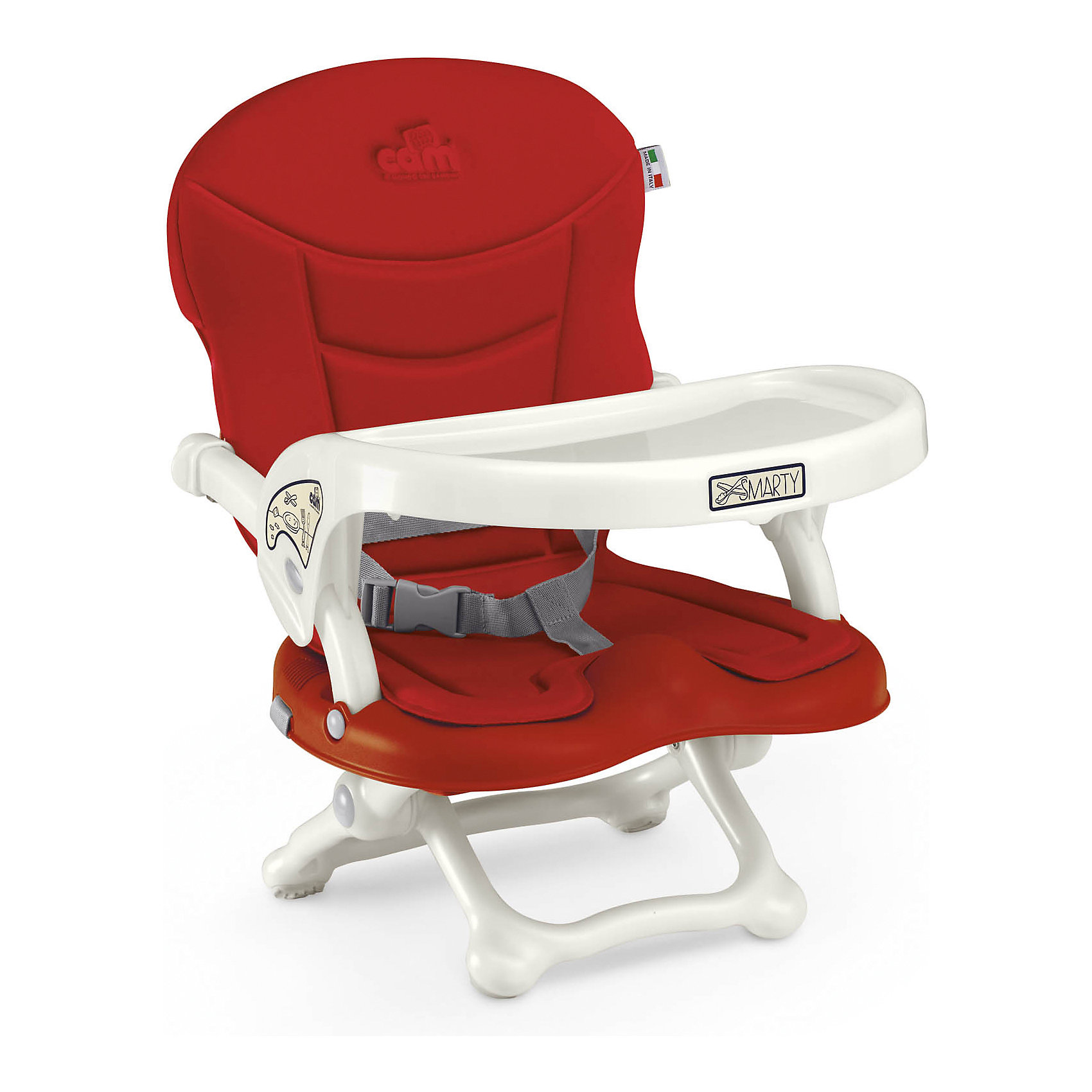 Стульчик для кормления Smarty Pop, CAM, красныйот +6 месяцев<br>Стульчик для кормления Smarty Pop, CAM, красный – компактная модель для дома и дачи.<br>Тип стульчика – бустер. Он крепится к обычной мебели и может быть отрегулирован с помощью 4 уровней высоты сидения. Мягкое сидение и подлокотники делают сиденье комфортным для ребенка, а ремни безопасности защищают малыша от падения и не дают ему выбраться самостоятельно. <br><br> Дополнительная информация:<br><br>- цвет: красный<br>- размер: 35х41х50 см<br>- вес: 1,7<br><br>Стульчик для кормления Smarty Pop, CAM, красный можно купить в нашем интернет магазине.<br><br>Ширина мм: 600<br>Глубина мм: 435<br>Высота мм: 377<br>Вес г: 2000<br>Возраст от месяцев: 6<br>Возраст до месяцев: 36<br>Пол: Унисекс<br>Возраст: Детский<br>SKU: 5013519