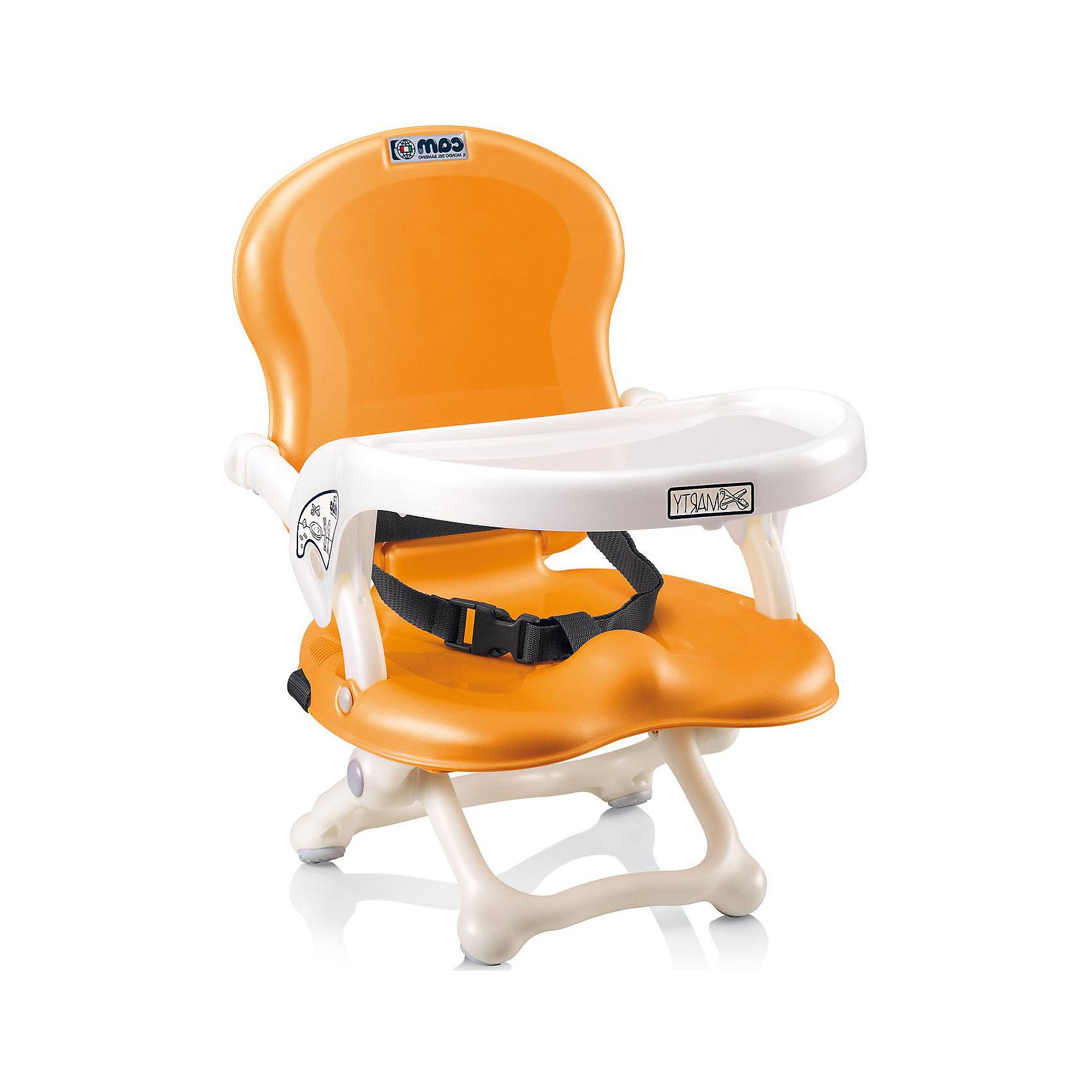 Стульчик для кормления Smarty Pop, CAM, оранжевыйот +6 месяцев<br>Стульчик для кормления Smarty Pop, CAM, оранжевый – компактная модель для дома и дачи.<br>Тип стульчика – бустер. Он крепится к обычной мебели и может быть отрегулирован с помощью 4 уровней высоты сидения. Мягкое сидение и подлокотники делают сиденье комфортным для ребенка, а ремни безопасности защищают малыша от падения и не дают ему выбраться самостоятельно. <br><br> Дополнительная информация:<br><br>- цвет: оранжевый<br>- размер: 35х41х50 см<br>- вес: 1,7<br><br>Стульчик для кормления Smarty Pop, CAM, оранжевый можно купить в нашем интернет магазине.<br><br>Ширина мм: 600<br>Глубина мм: 435<br>Высота мм: 377<br>Вес г: 2000<br>Возраст от месяцев: 6<br>Возраст до месяцев: 36<br>Пол: Унисекс<br>Возраст: Детский<br>SKU: 5013520