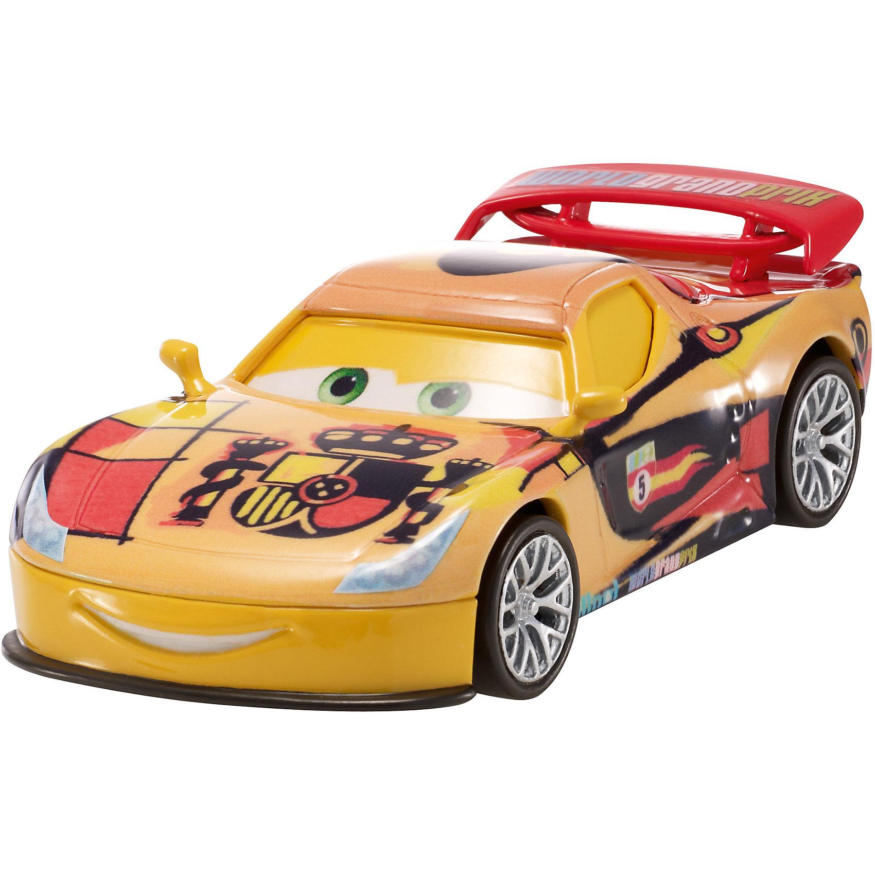 Литая машинка, Тачки-2Литая машинка Делюкс от компании «Mattel» выполнена в виде главного персонажа мультфильма «Тачки 2». Изготовленная из металла в масштабе 1:55 игрушка отличается высокой степенью детализации и качеством исполнения. Завладев несколькими моделями, малыш сможет окунуться в любимый мультипликационный мир, устроить красочные показательные выступления среди машинок-киногероев.<br><br>Дополнительная информация:<br><br>- Материал: металл<br>- В упаковке: 1 шт.<br>- Размер машинки: 8 см.<br><br>Литую машинку, Тачки-2 можно купить в нашем магазине.<br><br>Ширина мм: 135<br>Глубина мм: 45<br>Высота мм: 160<br>Вес г: 80<br>Возраст от месяцев: 36<br>Возраст до месяцев: 72<br>Пол: Мужской<br>Возраст: Детский<br>SKU: 5015759