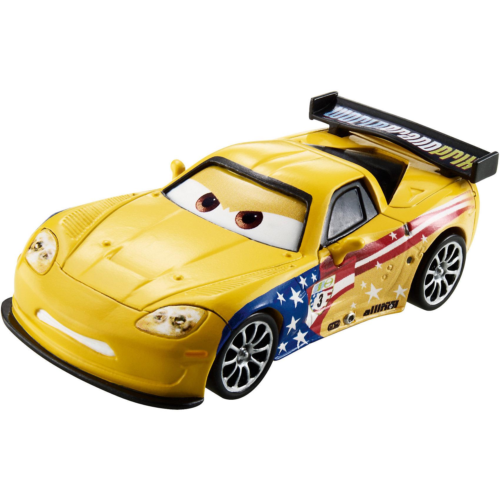 Литая машинка, Тачки-2Литая машинка Делюкс от компании «Mattel» выполнена в виде главного персонажа мультфильма «Тачки 2». Изготовленная из металла в масштабе 1:55 игрушка отличается высокой степенью детализации и качеством исполнения. Завладев несколькими моделями, малыш сможет окунуться в любимый мультипликационный мир, устроить красочные показательные выступления среди машинок-киногероев.<br><br>Дополнительная информация:<br><br>- Материал: металл<br>- В упаковке: 1 шт.<br>- Размер машинки: 8 см.<br><br>Литую машинку, Тачки-2 можно купить в нашем магазине.<br><br>Ширина мм: 135<br>Глубина мм: 45<br>Высота мм: 160<br>Вес г: 80<br>Возраст от месяцев: 36<br>Возраст до месяцев: 72<br>Пол: Мужской<br>Возраст: Детский<br>SKU: 5015782