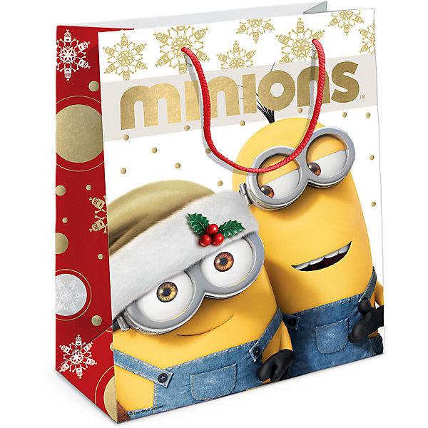 Пакет подарочный Рождество Миньонов230*180*100Упаковка новогоднего подарка<br>Подарочный бумажный пакет «Рождество Миньонов» с веселым, рождественским принтом ярко украсит подарок и еще больше поднимет праздничное настроение. Размер: 23х18х10 см. В ассортименте вы также сможете найти такой же пакет размером 35х25х9 см.<br>Ширина мм: 230; Глубина мм: 180; Высота мм: 5; Вес г: 39; Возраст от месяцев: 36; Возраст до месяцев: 120; Пол: Унисекс; Возраст: Детский; SKU: 5016437;