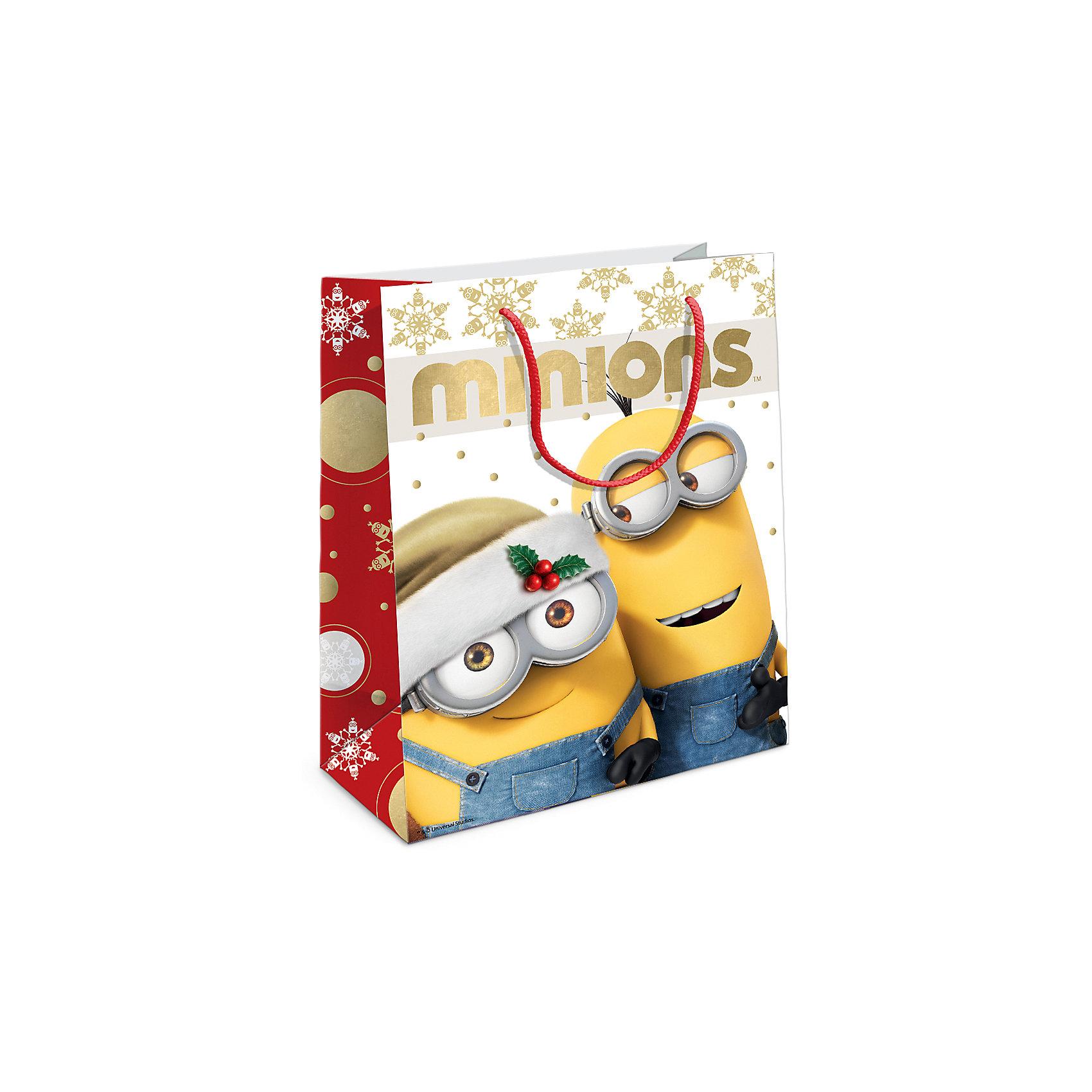 Росмэн Пакет подарочный Рождество Миньонов230*180*100 пакет подарочный росмэн пеппа и ёлка 230 180 100мм