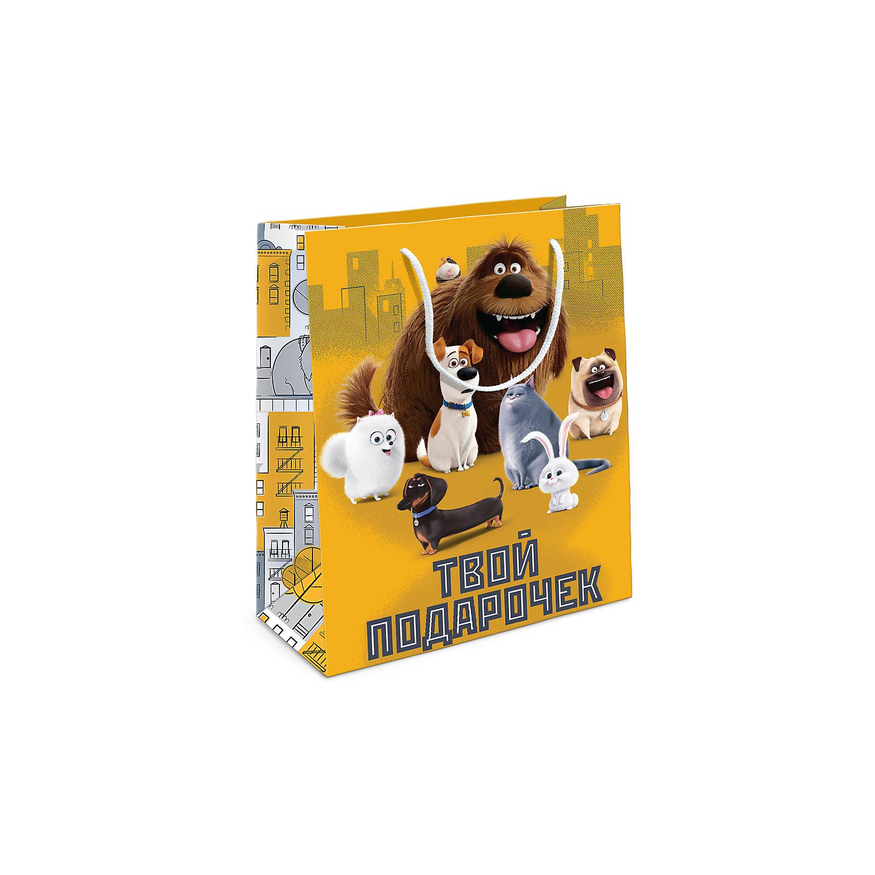 Росмэн Пакет подарочный The Secret life of pets 230*180*100 пакет подарочный росмэн тираннозавр рекс 230 180 100мм