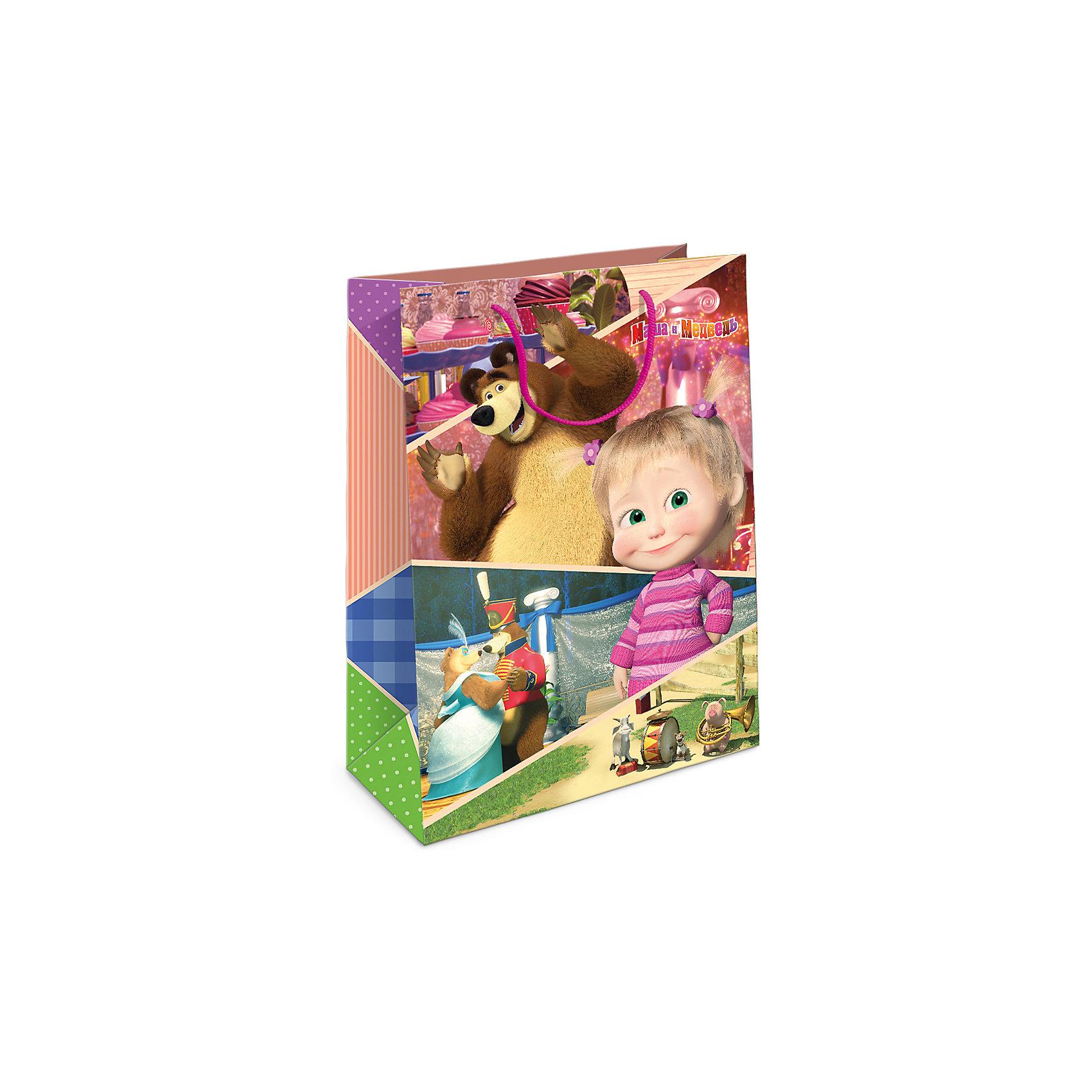 Пакет подарочный Маша и Миша 350*250*90Всё для праздника<br>Подарочный бумажный пакет с очаровательными героями мультфильма «Маша и Медведь» ярко украсит ваш подарок и обязательно порадует малыша. Размер: 35х25х9 см. В ассортименте вы сможете найти такой же пакет размером  23х18х10 см.<br><br>Ширина мм: 350<br>Глубина мм: 250<br>Высота мм: 3<br>Вес г: 78<br>Возраст от месяцев: 36<br>Возраст до месяцев: 120<br>Пол: Унисекс<br>Возраст: Детский<br>SKU: 5016441