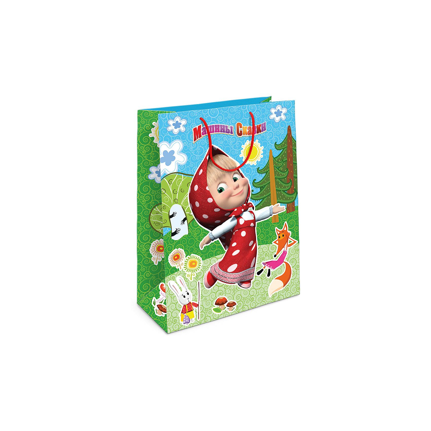Пакет подарочный  Лесная сказка Маши, 35*25*9Всё для праздника<br>Подарочный бумажный пакет «Лесная сказка Маши» с жизнерадостными героями мультфильма «Маша и Медведь» ярко украсит подарок и еще больше поднимет праздничное настроение виновнику торжества. Размер: 35х25х9 см. В ассортименте вы также сможете найти такой же пакет размером 23х18х10 см.<br><br>Ширина мм: 350<br>Глубина мм: 250<br>Высота мм: 5<br>Вес г: 61<br>Возраст от месяцев: 144<br>Возраст до месяцев: 120<br>Пол: Унисекс<br>Возраст: Детский<br>SKU: 5016444