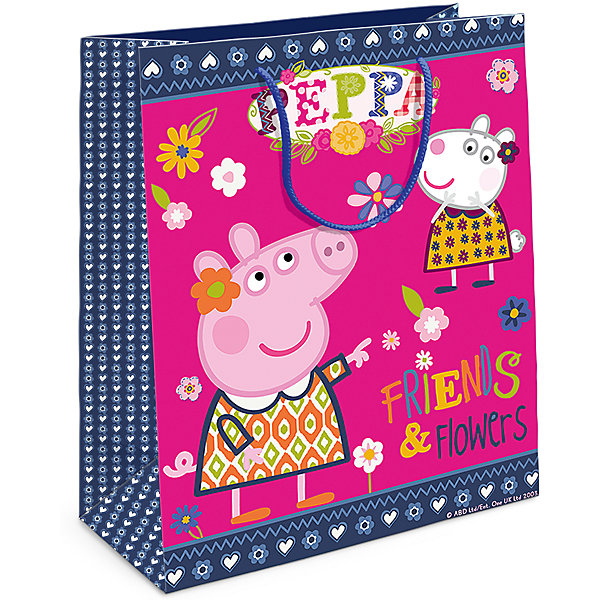 Пакет подарочный  Пеппа и Сьюзи, 23*18*10Детские подарочные пакеты<br>Подарочный бумажный пакет «Пеппа и Сьюзи» с очаровательными героями мультфильма «Свинка Пеппа» ярко украсит подарок и обязательно порадует вашу малышку. Размер: 23х18х10см. В ассортименте вы также сможете найти такой же пакет размером 35х25х9 см.<br>Ширина мм: 230; Глубина мм: 180; Высота мм: 5; Вес г: 39; Возраст от месяцев: 144; Возраст до месяцев: 120; Пол: Унисекс; Возраст: Детский; SKU: 5016445;