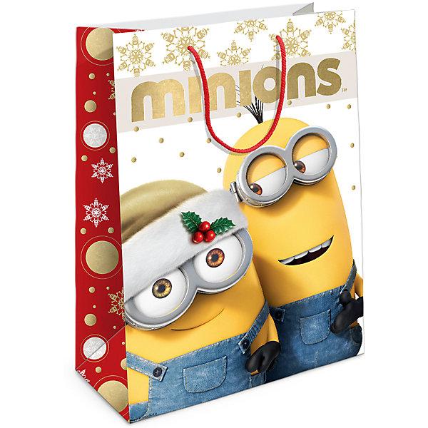 Пакет подарочный  Рождество Миньонов 350*250*90Детские подарочные пакеты<br>Подарочный бумажный пакет «Рождество Миньонов» с веселым, рождественским принтом ярко украсит подарок и  еще больше поднимет праздничное настроение. Размер: 35х25х9 см. В ассортименте вы также сможете найти такой же пакет размером 23х18х10 см.<br><br>Ширина мм: 350<br>Глубина мм: 250<br>Высота мм: 3<br>Вес г: 78<br>Возраст от месяцев: 36<br>Возраст до месяцев: 120<br>Пол: Унисекс<br>Возраст: Детский<br>SKU: 5016451
