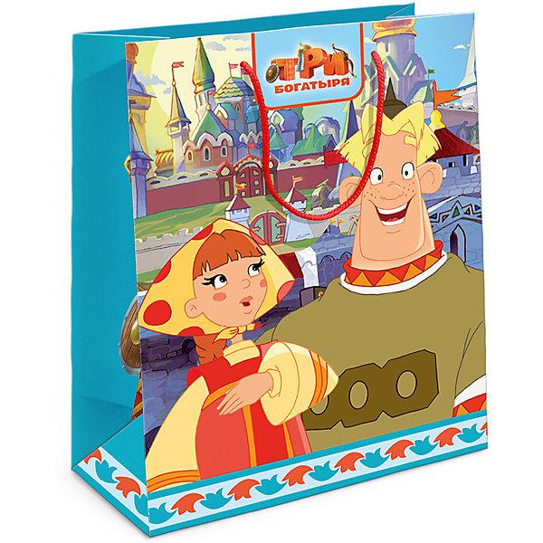 Пакет подарочный Любава 230*180*100Детские подарочные пакеты<br>Подарочный бумажный пакет «Любава» с незабываемыми героями мультфильма «Три богатыря» ярко украсит подарок и еще больше поднимет праздничное настроение виновнику торжества. Размер: 23х18х10 см. В ассортименте вы также сможете найти такой же пакет размером 35х25х9 см.<br>Ширина мм: 230; Глубина мм: 180; Высота мм: 5; Вес г: 39; Возраст от месяцев: 36; Возраст до месяцев: 120; Пол: Унисекс; Возраст: Детский; SKU: 5016457;