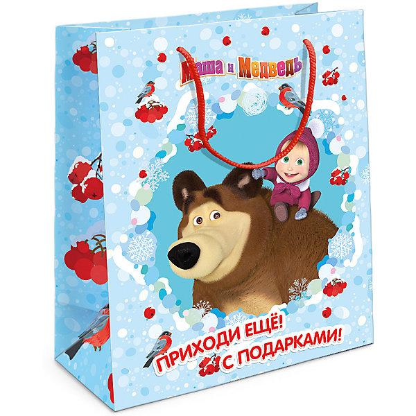 Пакет подарочный Маша новогодняя 230*180*100Упаковка новогоднего подарка<br>Порадуйте малышку новогодним подарком! А красивый подарочный пакет «Маша новогодняя» с забавными героями мультфильма «Маша и Медведь» станет его эффектным дополнением. Размер бумажного подарочного пакета: 23х18х10 см. В ассортименте вы можете найти такой же пакет размером 35х25х9 см.<br><br>Ширина мм: 230<br>Глубина мм: 180<br>Высота мм: 3<br>Вес г: 41<br>Возраст от месяцев: 36<br>Возраст до месяцев: 120<br>Пол: Унисекс<br>Возраст: Детский<br>SKU: 5016458
