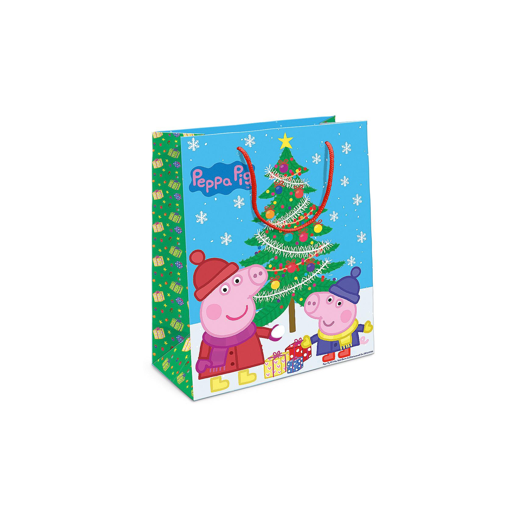 Пакет подарочный Пеппа и елка 230*180*100Всё для праздника<br>Порадуйте малыша новогодним подарком! А красивый подарочный пакет «Пеппа и ёлка» с забавными героями мультфильма «Свинка Пеппа» станет его эффектным дополнением. Размер бумажного подарочного пакета: 23х18х10 см.<br><br>Ширина мм: 230<br>Глубина мм: 180<br>Высота мм: 3<br>Вес г: 41<br>Возраст от месяцев: 36<br>Возраст до месяцев: 120<br>Пол: Унисекс<br>Возраст: Детский<br>SKU: 5016462