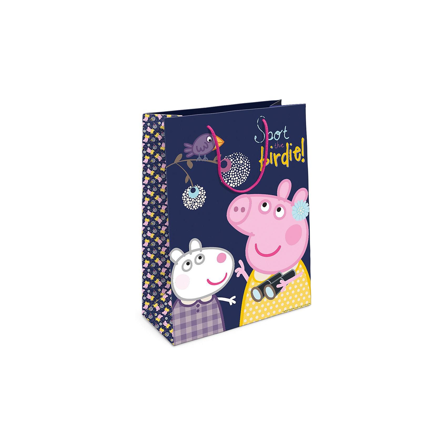 Росмэн Пакет подарочный Пеппа и птица 350*250*90 товары для праздника olala пакет подарочный миньон король 350 х 250 х 90 см