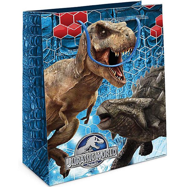 Пакет подарочный Тираннозавр Рекс 230*180*100Детские подарочные пакеты<br>Приобрести интересный подарок для ребенка – это только часть задачи. Не менее важно его красиво упаковать! Самым простым, практичным и при этом очень красивым видом упаковки является подарочный пакет – особенно с любимыми героями малыша. Бумажный пакет «Тираннозавр Рекс» с динозавром из фильма «Парк Юрского периода» поможет эффектно украсить ваш подарок. Размер бумажного подарочного пакета: 23х18х10 см. В ассортименте вы можете найти такой же пакет размером 35х25х9 см.<br><br>Ширина мм: 230<br>Глубина мм: 180<br>Высота мм: 3<br>Вес г: 41<br>Возраст от месяцев: 36<br>Возраст до месяцев: 120<br>Пол: Унисекс<br>Возраст: Детский<br>SKU: 5016465