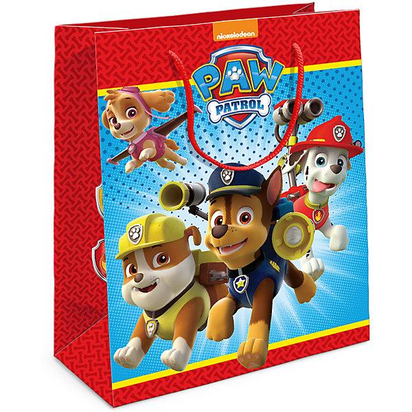 Пакет подарочный Щенячий патруль 230*180*100Детские подарочные пакеты<br>Подарочный бумажный пакет с веселыми и очаровательными героями мультфильма «Щенячий патруль» ярко украсит подарок и порадует малыша. Размер: 23х18х10 см. В ассортименте вы также сможете найти такой же пакет размером 35х25х9 см.<br>Ширина мм: 230; Глубина мм: 180; Высота мм: 5; Вес г: 39; Возраст от месяцев: 60; Возраст до месяцев: 120; Пол: Унисекс; Возраст: Детский; SKU: 5016467;