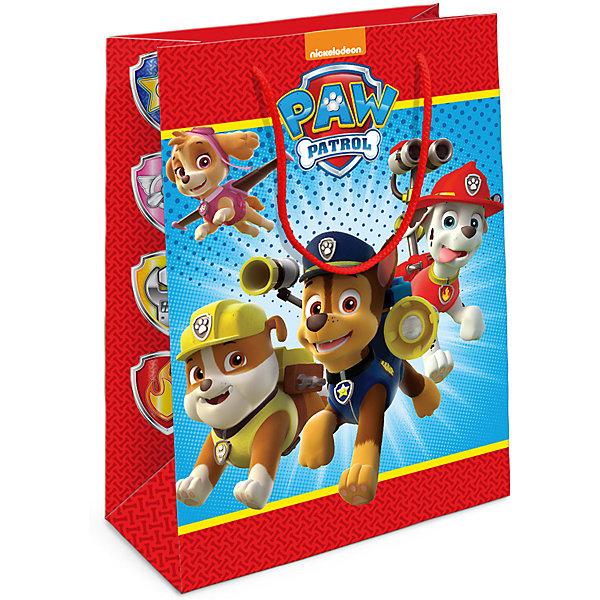 Пакет подарочный Щенячий патруль 350*250*90Детские подарочные пакеты<br>Подарочный бумажный пакет с веселыми и очаровательными героями мультфильма «Щенячий патруль» ярко украсит любой подарок и порадует малыша. Размер: 35х25х9 см. В ассортименте вы также сможете найти такой же пакет размером 23х18х10 см.<br><br>Ширина мм: 350<br>Глубина мм: 250<br>Высота мм: 5<br>Вес г: 61<br>Возраст от месяцев: 60<br>Возраст до месяцев: 120<br>Пол: Унисекс<br>Возраст: Детский<br>SKU: 5016468