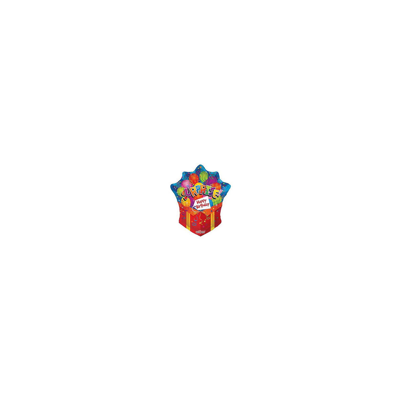 Шар фольгированный фигурный СЮРПРИЗВсё для праздника<br>Фигурный шар «Сюрприз» ТМ «Olala» украсит интерьер к празднику, дополнит любой подарок и позабавит малышей, став для них веселой игрушкой. Шар с двусторонней печатью имеет высоту 71 см, изготовлен из миларовой пленки и надувается гелием. Изделие поставляется не надутым. Товар сертифицирован.<br><br>Ширина мм: 180<br>Глубина мм: 140<br>Высота мм: 20<br>Вес г: 100<br>Возраст от месяцев: 36<br>Возраст до месяцев: 120<br>Пол: Унисекс<br>Возраст: Детский<br>SKU: 5016496