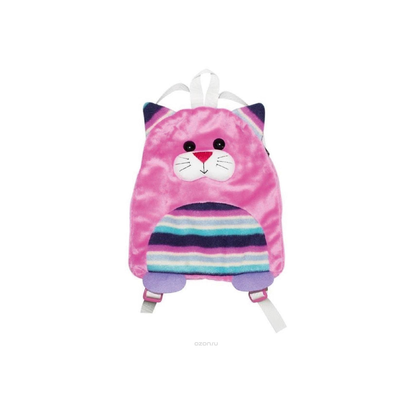 Рюкзак КотёнокДетские рюкзаки<br>Образ маленькой модницы не будет завершенным, если его не дополнить маленьким рюкзачком. Стильный детский рюкзачок , выполненный в виде забавного плюшевого кота, станет отличным подарком для вашего ребёнка. Одно отделение позволяет с лёгкостью разместить бутылочку воды, кошелек, записную книжку и прочие необходимые маленькой непоседе вещи. Удобные текстильные лямки без труда регулируются под рост ребенка. А петля в верхней части рюкзака позволяет носить его в руке или подвешивать на крючок. Прочный и функциональный аксессуар долго будет радовать свою юную обладательницу.<br><br>Ширина мм: 240<br>Глубина мм: 280<br>Высота мм: 300<br>Вес г: 92<br>Возраст от месяцев: 36<br>Возраст до месяцев: 84<br>Пол: Унисекс<br>Возраст: Детский<br>SKU: 5016501