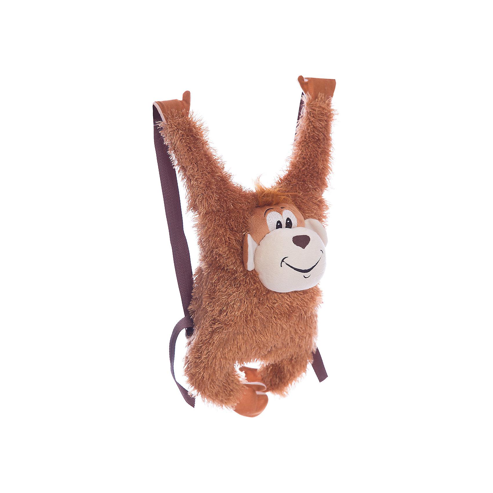 Сумка-рюкзак детская «Обезьянка»Детские рюкзаки<br>Сумка-рюкзак детская «Обезьянка», Fancy.<br><br>Характеристика:<br><br>• Материал: текстиль.  <br>• Размер: 20х8х53 см.<br>• Текстильные плечевые ремни. <br>• Тип застежки: молния. <br>• Количество отделений: 1<br>• Мягкий, приятный на ощупь материал. <br>• Оригинальный дизайн. <br><br>Оригинальный рюкзак, выполненный в виде озорной обезьянки, понравится как девочкам, так и мальчикам. Рюкзак имеет текстильные плечевые лямки, одно вместительное отделение, застегивается на пластиковую молнию. Аксессуар выполнен из искусственного гипоаллергенного меха, безопасного для детей, очень приятный на ощупь. <br><br>Сумку-рюкзак детскую «Обезьянка», Fancy, можно купить в нашем интернет-магазине.<br><br>Ширина мм: 530<br>Глубина мм: 230<br>Высота мм: 80<br>Вес г: 135<br>Возраст от месяцев: 36<br>Возраст до месяцев: 84<br>Пол: Женский<br>Возраст: Детский<br>SKU: 5016502