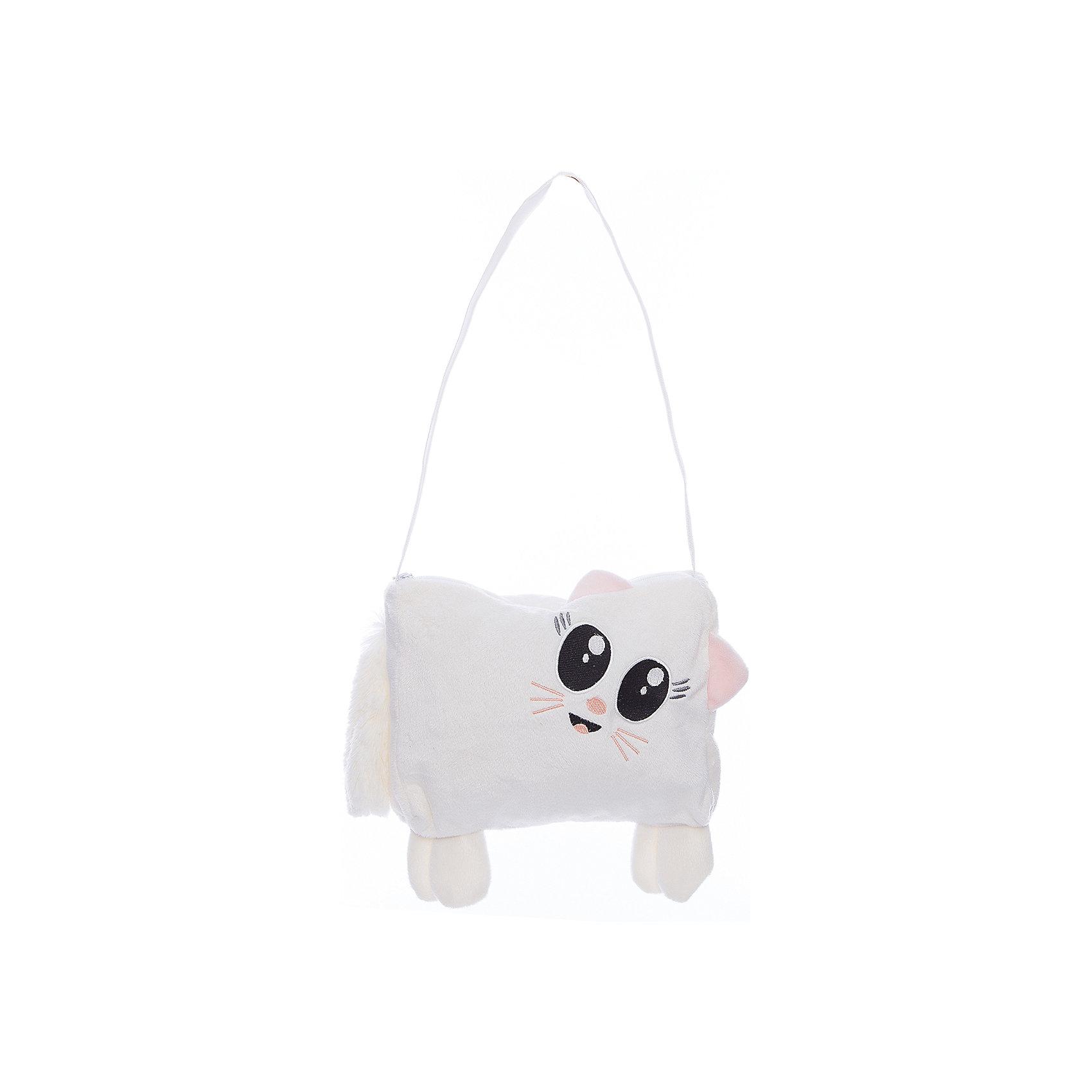 Сумочка детская КошкаДетские сумки<br>Сумочка детская Кошка, Fancy.<br><br>Характеристика:<br><br>• Материал: текстиль.    <br>• Размер: 25х20 см.<br>• Длинный плечевой ремень. <br>• Тип застежки: молния. <br>• Количество отделений: 1<br>• Мягкий, приятный на ощупь материал. <br>• Оригинальный дизайн. <br><br>Сумочка в виде очаровательной кошки с пушистым хвостом и большими глазами приведет в восторг каждую девочку! Сумка закрывается на пластиковую застёжку-молнию, имеет удобный длинный плечевой ремешок. Аксессуар выполнен из мягкого приятного на ощупь материала. <br>Прекрасный подарок для вашей юной модницы!<br><br>Сумочку детскую Кошка, Fancy, можно купить в нашем интернет-магазине.<br><br>Ширина мм: 250<br>Глубина мм: 230<br>Высота мм: 30<br>Вес г: 86<br>Возраст от месяцев: 36<br>Возраст до месяцев: 84<br>Пол: Женский<br>Возраст: Детский<br>SKU: 5016503
