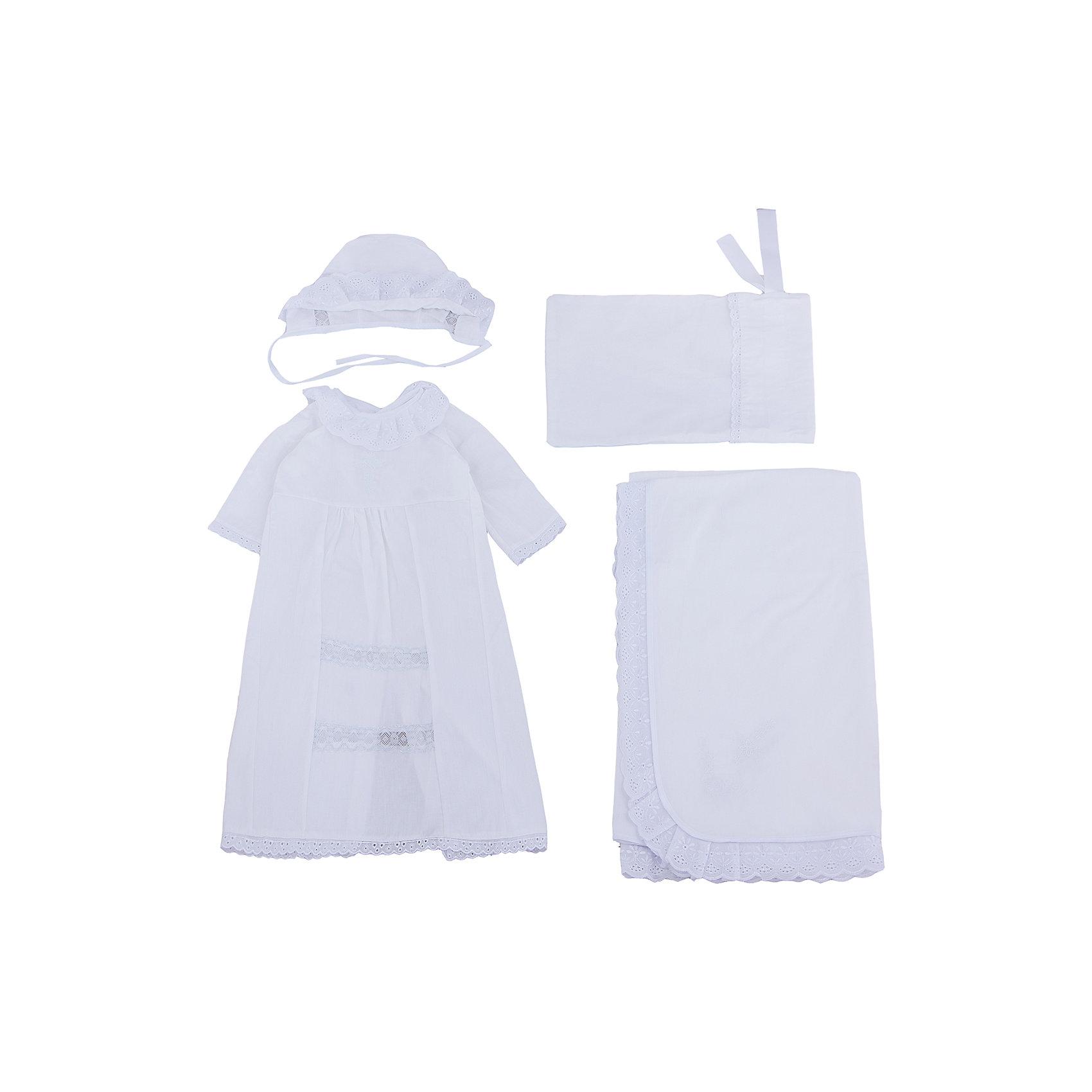 Сонный гномик Крестильный набор для девочки, р-р 68, Сонный гномик, белый халат для крещения купить в ставрополе