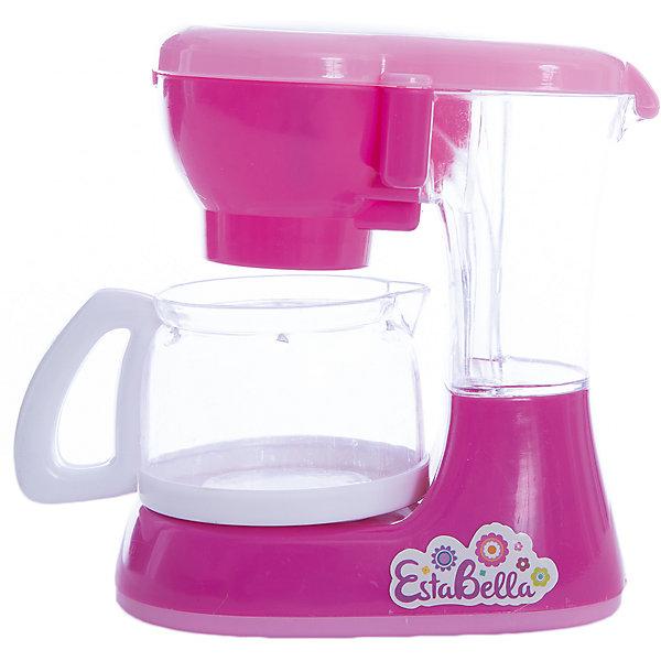 Игрушка Кофеварка, EstaBellaИгрушечная бытовая техника<br>Игрушка Кофеварка, EstaBella (Эстабелла).<br><br>Характеристики:<br><br>• есть звуковые эффекты<br>• полностью безопасна для ребенка<br>• материал: пластик<br>• вес: 230 грамм<br>• размер упаковки: 15х9х17 см<br><br>Кофеварка EstaBella (Эстабелла) очень похожа на настоящую бытовую технику. Если девочка захочет угостить своих кукол вкусным кофе, стильная кофеварка обязательно поможет ей в этом. Процесс приготовления сопровождается характерными звуками. Игрушка выполнена из нетоксичного пластика и имеет закругленные углы, что делает ее полностью безопасной. Эта кофеварка отлично впишется в кухню юной хозяйки!<br><br>Вы можете купить игрушку Кофеварка EstaBella (Эстабелла) в нашем интернет-магазине.<br>Ширина мм: 170; Глубина мм: 90; Высота мм: 150; Вес г: 230; Возраст от месяцев: 36; Возраст до месяцев: 120; Пол: Женский; Возраст: Детский; SKU: 5017649;