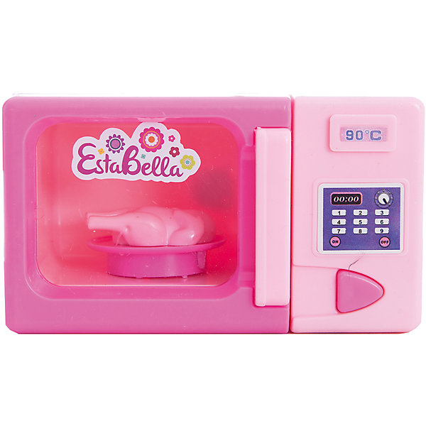 Игрушка Микроволновая печь, EstaBellaИгрушечная бытовая техника<br>Игрушка Микроволновая печь, EstaBella (Эстабелла)<br><br>Характеристики:<br><br>• большая панель<br>• полностью безопасна для ребенка<br>• материал: пластик<br>• батарейки: АА (в комплект не входят)<br>• вес: 200 грамм<br>• размер упаковки: 15х8х16 см<br><br>Каждая хозяйка знает, что еда всегда должна быть горячей. Суп кукол остыл? Не беда! Микроволновая печь EstaBella с легкостью справится с этой проблемой. На панели вы найдете различные кнопочки, имитирующие множество программ. Печь оснащена индикатором температуры. Игрушка изготовлена из качественного пластика, безопасного для ребенка.<br><br>Игрушку Микроволновая печь, EstaBella (Эстабелла) можно купить в нашем интернет-магазине.<br><br>Ширина мм: 160<br>Глубина мм: 80<br>Высота мм: 150<br>Вес г: 200<br>Возраст от месяцев: 36<br>Возраст до месяцев: 120<br>Пол: Женский<br>Возраст: Детский<br>SKU: 5017650