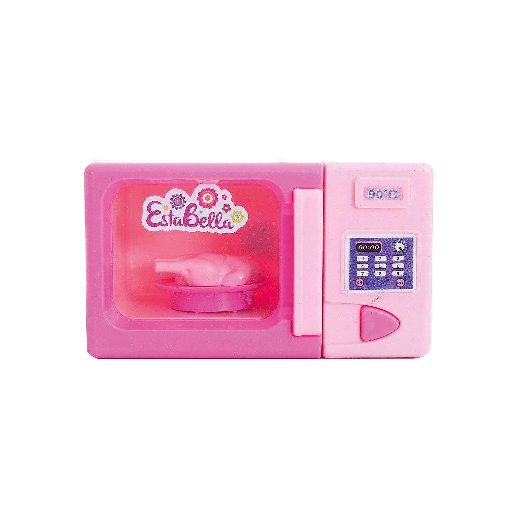 Игрушка Микроволновая печь, EstaBellaИгрушка Микроволновая печь, EstaBella (Эстабелла)<br><br>Характеристики:<br><br>• большая панель<br>• полностью безопасна для ребенка<br>• материал: пластик<br>• батарейки: АА (в комплект не входят)<br>• вес: 200 грамм<br>• размер упаковки: 15х8х16 см<br><br>Каждая хозяйка знает, что еда всегда должна быть горячей. Суп кукол остыл? Не беда! Микроволновая печь EstaBella с легкостью справится с этой проблемой. На панели вы найдете различные кнопочки, имитирующие множество программ. Печь оснащена индикатором температуры. Игрушка изготовлена из качественного пластика, безопасного для ребенка.<br><br>Игрушку Микроволновая печь, EstaBella (Эстабелла) можно купить в нашем интернет-магазине.<br><br>Ширина мм: 160<br>Глубина мм: 80<br>Высота мм: 150<br>Вес г: 200<br>Возраст от месяцев: 36<br>Возраст до месяцев: 120<br>Пол: Женский<br>Возраст: Детский<br>SKU: 5017650