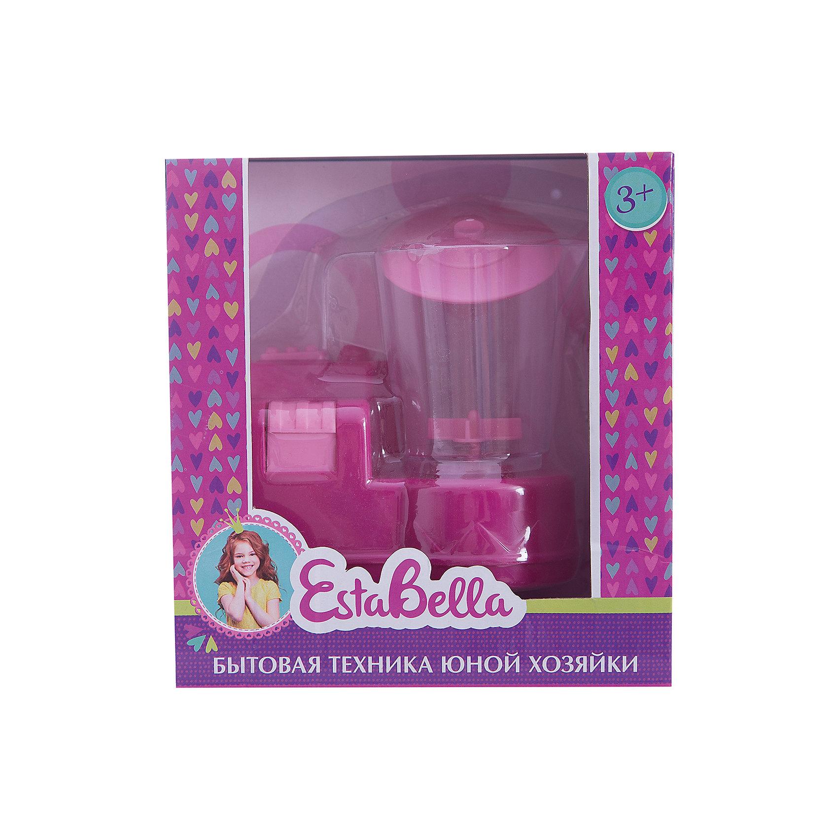 Игрушка Миксер, EstaBellaИгрушечная бытовая техника<br>Игрушка Миксер, EstaBella (Эстабелла).<br><br>Характеристики:<br><br>• полностью безопасен для ребенка<br>• материал: пластик<br>• вес: 240 грамм<br>• размер упаковки: 15х8х16 см<br><br>Блендер EstaBella прекрасно дополнит кухню маленькой хозяйки. С его помощью девочка научится пользоваться миксером и в дальнейшем с радостью поможет маме по хозяйству. Игрушка выполнена из безопасных материалов. Блендер EstaBella создан специально для маленьких помощниц!<br><br>Игрушку Миксер, EstaBella (Эстабелла) вы можете купить в нашем интернет-магазине.<br><br>Ширина мм: 160<br>Глубина мм: 80<br>Высота мм: 150<br>Вес г: 240<br>Возраст от месяцев: 36<br>Возраст до месяцев: 120<br>Пол: Женский<br>Возраст: Детский<br>SKU: 5017651