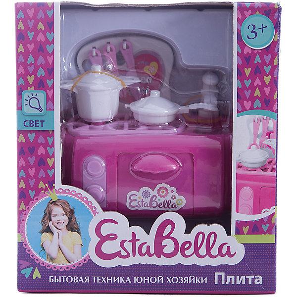 Игрушка Плита, EstaBellaИгрушечная бытовая техника<br>Игрушка Плита, EstaBella (Эстабелла).<br><br>Характеристики:<br><br>• есть световые эффекты<br>• работает от батареек<br>• полностью безопасна для ребенка<br>• материал: пластик<br>• вес: 190 грамм<br>• размер упаковки: 15х9х17 см<br><br>Плита EstaBella (Эстабелла) поможет девочке почувствовать себя настоящей хозяйкой! Кастрюля, кухонные приборы, сковорода - здесь есть все, что может пригодиться на кухне. Световые эффекты понравятся малышке и она с радостью будет готовить для своих игрушек. Игрушки полностью безопасны для ребенка. <br>Познакомившись с такой плитой, девочка с удовольствием будет помогать маме!<br><br>Вы можете купить игрушку Плита, EstaBella (Эстабелла) в нашем интернет-магазине.<br>Ширина мм: 170; Глубина мм: 90; Высота мм: 150; Вес г: 190; Возраст от месяцев: 36; Возраст до месяцев: 120; Пол: Женский; Возраст: Детский; SKU: 5017652;