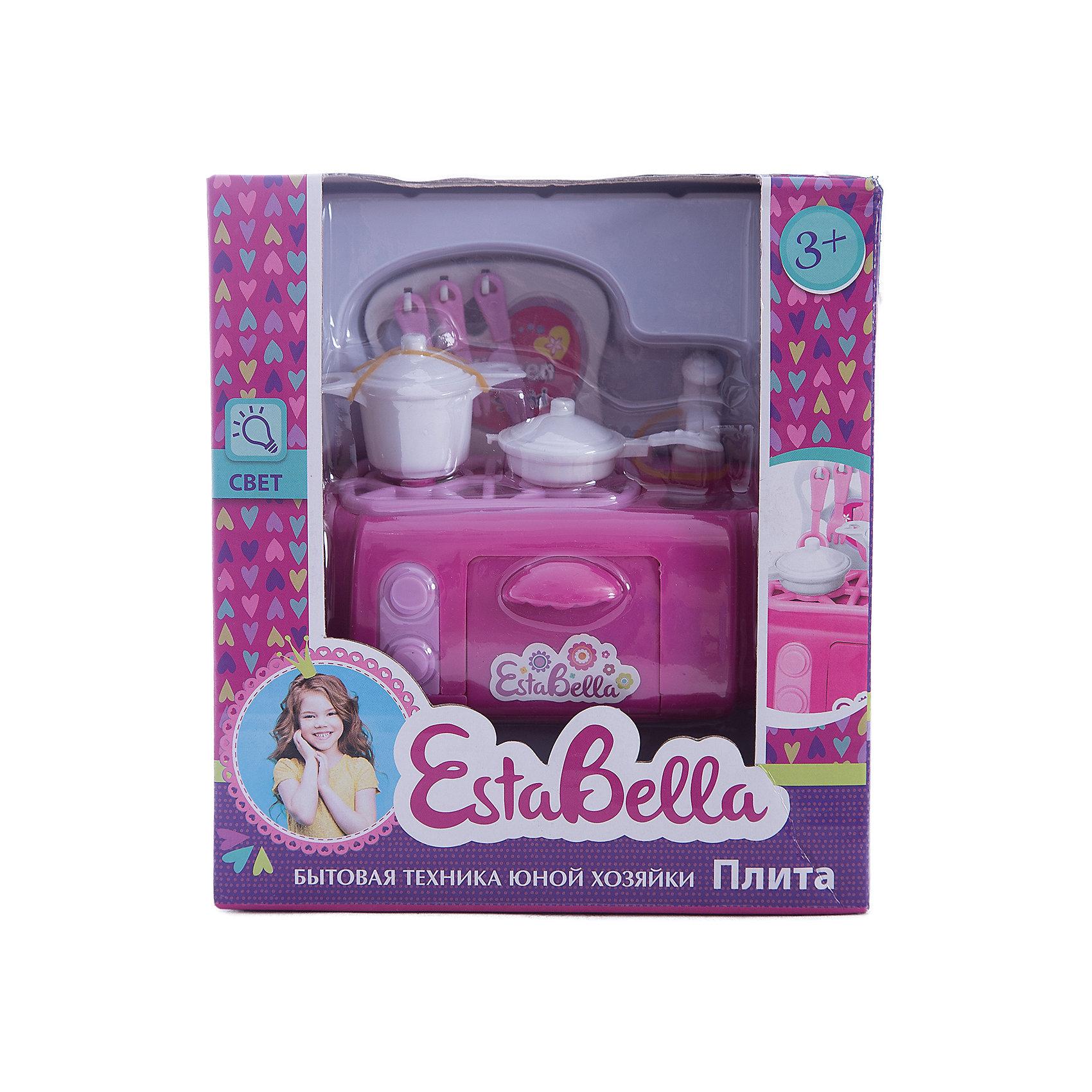 Игрушка Плита, EstaBellaИгрушечная бытовая техника<br>Игрушка Плита, EstaBella (Эстабелла).<br><br>Характеристики:<br><br>• есть световые эффекты<br>• работает от батареек<br>• полностью безопасна для ребенка<br>• материал: пластик<br>• вес: 190 грамм<br>• размер упаковки: 15х9х17 см<br><br>Плита EstaBella (Эстабелла) поможет девочке почувствовать себя настоящей хозяйкой! Кастрюля, кухонные приборы, сковорода - здесь есть все, что может пригодиться на кухне. Световые эффекты понравятся малышке и она с радостью будет готовить для своих игрушек. Игрушки полностью безопасны для ребенка. <br>Познакомившись с такой плитой, девочка с удовольствием будет помогать маме!<br><br>Вы можете купить игрушку Плита, EstaBella (Эстабелла) в нашем интернет-магазине.<br><br>Ширина мм: 170<br>Глубина мм: 90<br>Высота мм: 150<br>Вес г: 190<br>Возраст от месяцев: 36<br>Возраст до месяцев: 120<br>Пол: Женский<br>Возраст: Детский<br>SKU: 5017652