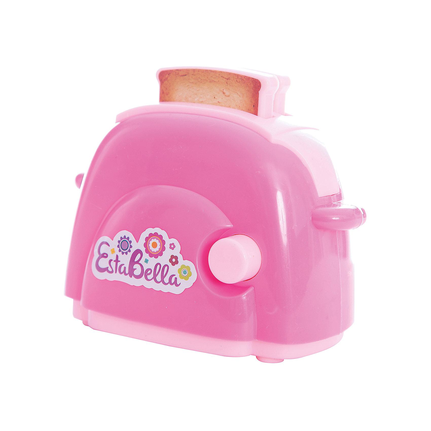 Игрушка Тостер, EstaBellaИгрушечная бытовая техника<br>Игрушка Тостер, EstaBella (Эстабелла).<br><br>Характеристики:<br><br>• полностью безопасен для ребенка<br>• материал: пластик<br>• вес: 200 грамм<br>• размер упаковки: 15х8х16 см<br><br>Тостер EstaBella (Эстабелла) очень похож на настоящий. С его помощью девочка научится готовить тосты, а в дальнейшем с радостью поможет маме с настоящим тостером. Яркая стильная игрушка прекрасно подойдет для сюжетно-ролевых игр. Кроме того, она выполнена из нетоксичного пластика, полностью безопасного для ребенка. Порадуйте девочку тостером EstaBella!<br><br>Игрушку Тостер, EstaBella (Эстабелла) вы можете купить в нашем интернет-магазине.<br><br>Ширина мм: 160<br>Глубина мм: 80<br>Высота мм: 150<br>Вес г: 200<br>Возраст от месяцев: 36<br>Возраст до месяцев: 120<br>Пол: Женский<br>Возраст: Детский<br>SKU: 5017653