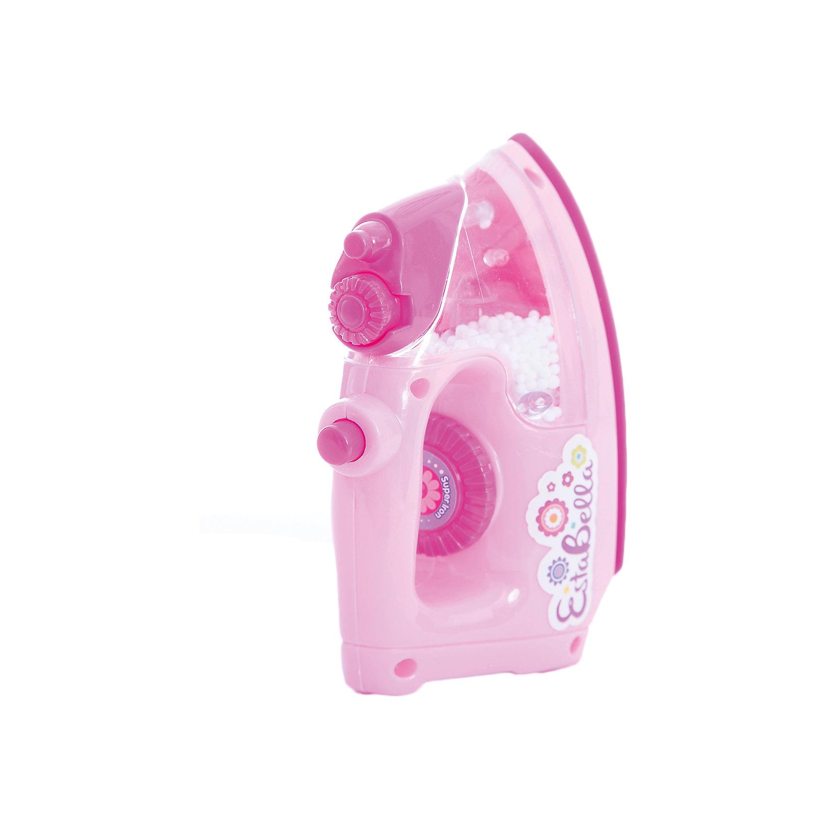 Игрушка Утюг, EstaBellaИгрушка Утюг, EstaBella (Эстабелла).<br><br>Характеристики:<br><br>• световые и звуковые эффекты<br>• полностью безопасен для ребенка<br>• материал: пластик<br>• вес: 190 грамм<br>• размер упаковки: 15х9х17 см<br><br>Утюг EstaBella (Эстабелла) - копия настоящего утюга. Он имеет несколько кнопок и удобную ручку. Световые и звуковые эффекты сделают игру еще более интереснее! После этой игрушки девочка с радостью будет помогать маме гладить.<br><br>Вы можете купить игрушку Утюг, EstaBella (Эстабелла) в нашем интернет-магазине.<br><br>Ширина мм: 170<br>Глубина мм: 90<br>Высота мм: 150<br>Вес г: 190<br>Возраст от месяцев: 36<br>Возраст до месяцев: 120<br>Пол: Женский<br>Возраст: Детский<br>SKU: 5017654
