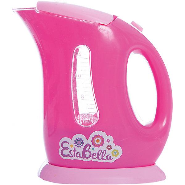 Игрушка Чайник электрический, EstaBellaИгрушечная бытовая техника<br>Игрушка Чайник электрический, EstaBella (Эстабелла).<br><br>Характеристики:<br><br>• световые и звуковые эффекты<br>• полностью безопасен для ребенка<br>• требуются батарейки<br>• материал: пластик<br>• вес: 250 грамм<br>• размер упаковки: 15х8х16 см<br><br>С помощью чайника EstaBella (Эстабелла) девочка сможет угостить свои игрушки вкусным чаем. Игрушка имеет световые и звуковые эффекты, которые обеспечат максимальную реалистичность во время игры. Чайник полностью безопасен для ребенка. С этой игрушкой кукольные чаепития пройдут очень весело!<br><br>Вы можете купить игрушку Чайник электрический, EstaBella (Эстабелла) в нашем интернет-магазине.<br><br>Ширина мм: 160<br>Глубина мм: 80<br>Высота мм: 150<br>Вес г: 250<br>Возраст от месяцев: 36<br>Возраст до месяцев: 120<br>Пол: Женский<br>Возраст: Детский<br>SKU: 5017655