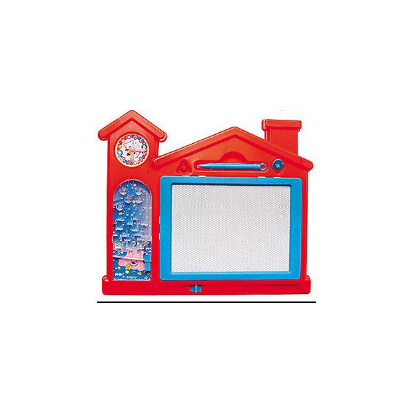 Доска Пиши-стирай Домик с часами, с пинболом, KriblyBooДоски и коврики для рисования<br>Доска Пиши-стирай Домик с часами, с пинболом, KriblyBoo (Крибли Бу).<br><br>• можно писать и рисовать<br>• поможет научиться распознавать время<br>• есть пинбол<br>• в комплекте: стилус, штампики, доска<br>• материал: пластик<br>• размер упаковки: 13х9х22 см<br>• вес: 205 грамм<br><br><br>Домик с часами - уникальный набор для творчества, обучения и игр. Ребенок сможет писать или рисовать при помощи магнитной ручки или штампиков, легко стирать нарисованное и украшать доску своими творениями заново. Однако даже самый опытный художник может устать. В этом случае на помощь придет пинбол - прекрасный вариант, чтобы отдохнуть с пользой. Доска выполнена в форме домика, верх которого украшают часы, которые помогут малышу научиться распознавать время. С этой доской ваш ребенок проведет время с пользой!<br><br>Доску Пиши-стирай Домик с часами, с пинболом, KriblyBoo (Крибли Бу) вы можете купить в нашем интернет-магазине.<br>Ширина мм: 220; Глубина мм: 90; Высота мм: 130; Вес г: 205; Возраст от месяцев: 36; Возраст до месяцев: 120; Пол: Женский; Возраст: Детский; SKU: 5017658;