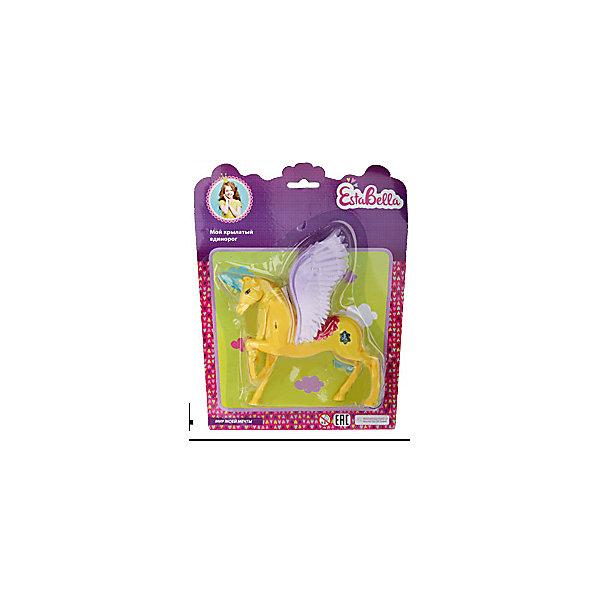Игрушка Мой крылатый единорог 2, EstaBellaИдеи подарков<br>Игрушка Мой крылатый единорог 2, EstaBella (Эстабелла).<br><br>Характеристики:<br><br>• приятный дизайн<br>• выполнена из нетоксичных материалов<br>• материал: пластик<br>• размер упаковки: 20х3х25 см<br>• вес: 105 грамм<br><br>Мой крылатый единорог - очаровательная игрушка для любительниц волшебства. Единорог окрашен в яркий цвет, имеет огромные крылья, способные поднять в воздух куклу, которая может поместиться в уютном седле. Игрушка подойдет для сюжетно-ролевых игр и поможет развить фантазию. Этот единорог откроет девочке мир волшебства и фантазии!<br><br>Вы можете купить игрушку Мой крылатый единорог 2, EstaBella (Эстабелла) в нашем интернет-магазине.<br><br>Ширина мм: 250<br>Глубина мм: 30<br>Высота мм: 200<br>Вес г: 105<br>Возраст от месяцев: 36<br>Возраст до месяцев: 120<br>Пол: Женский<br>Возраст: Детский<br>SKU: 5017659