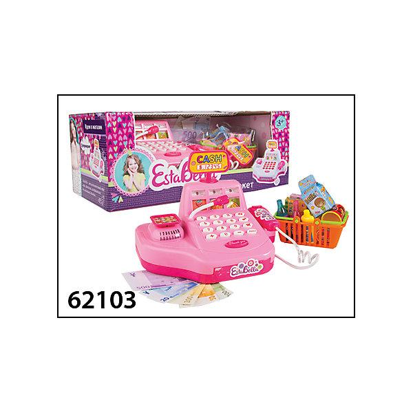 Игрушка Супермаркет с кассой, EstaBellaДетский супермаркет<br>Игрушка Супермаркет с кассой, EstaBella (Эстабелла).<br><br>Характеристики:<br><br>• световые и звуковые эффекты<br>• полностью безопасна для ребенка<br>• материал: пластик<br>• вес: 195 грамм<br>• размер упаковки: 14х11х18 см<br><br>Пожалуй, каждый ребенок мечтает почувствовать себя настоящим продавцом. Супермаркет EstaBella (Эстабелла) прекрасно подойдет для таких сюжетно-ролевых игр! В наборе вы найдете всё, что потребуется настоящему кассиру: сканер, касса, корзина с покупками и многое другое. Игрушка оснащена звуковыми эффектами, которые сделают игру еще более реалистичной!<br><br>Игрушку Супермаркет с кассой, EstaBella (Эстабелла) можно купить в нашем интернет-магазине.<br><br>Ширина мм: 180<br>Глубина мм: 110<br>Высота мм: 140<br>Вес г: 195<br>Возраст от месяцев: 36<br>Возраст до месяцев: 120<br>Пол: Женский<br>Возраст: Детский<br>SKU: 5017660