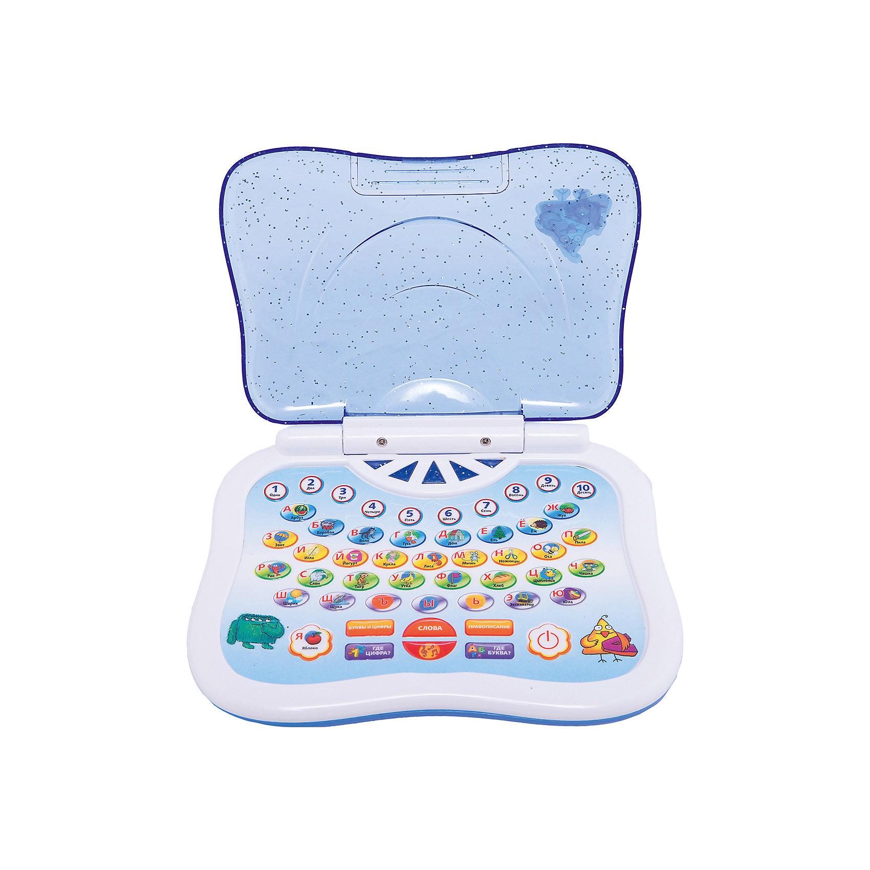 Обучающий компьютер Русский, KriblyBooРазвивающие игрушки<br>Обучающий компьютер Русский, KriblyBoo (Крибли Бу).<br><br>Характеристики:<br><br>• поможет изучить слова, буквы и цифры<br>• работает в шести режимах<br>• материал: пластик, металл<br>• батарейки: АА - 3 шт. (в комплект не входят)<br>• размер упаковки: 5х18,5х23 см<br>• вес: 300 грамм<br>• размер компьютера: 16х13 см<br><br>Обучающий компьютер KriblyBoo станет незаменимым помощником для родителей. С его помощью ребенок легко выучит цифры и буквы, а затем и закрепит свои знания. Компьютер работает в нескольких режимах: обучение цифрам, обучение буквам, произношение слов по буквам, проверка знаний и прослушивание песен. Каждый режим активируется нажатием на кнопку. При этом ребенок сам может выбрать букву или цифру, которую он желает изучить. Громкость звука игрушки регулируется. Компьютер имеет крышку, защищающую от влаги. С ярким компьютером процесс обучения превратится в настоящую игру!<br><br>Обучающий компьютер Русский, KriblyBoo (Крибли Бу) вы можете купить в нашем интернет-магазине.<br><br>Ширина мм: 230<br>Глубина мм: 185<br>Высота мм: 50<br>Вес г: 300<br>Возраст от месяцев: 36<br>Возраст до месяцев: 120<br>Пол: Женский<br>Возраст: Детский<br>SKU: 5017663
